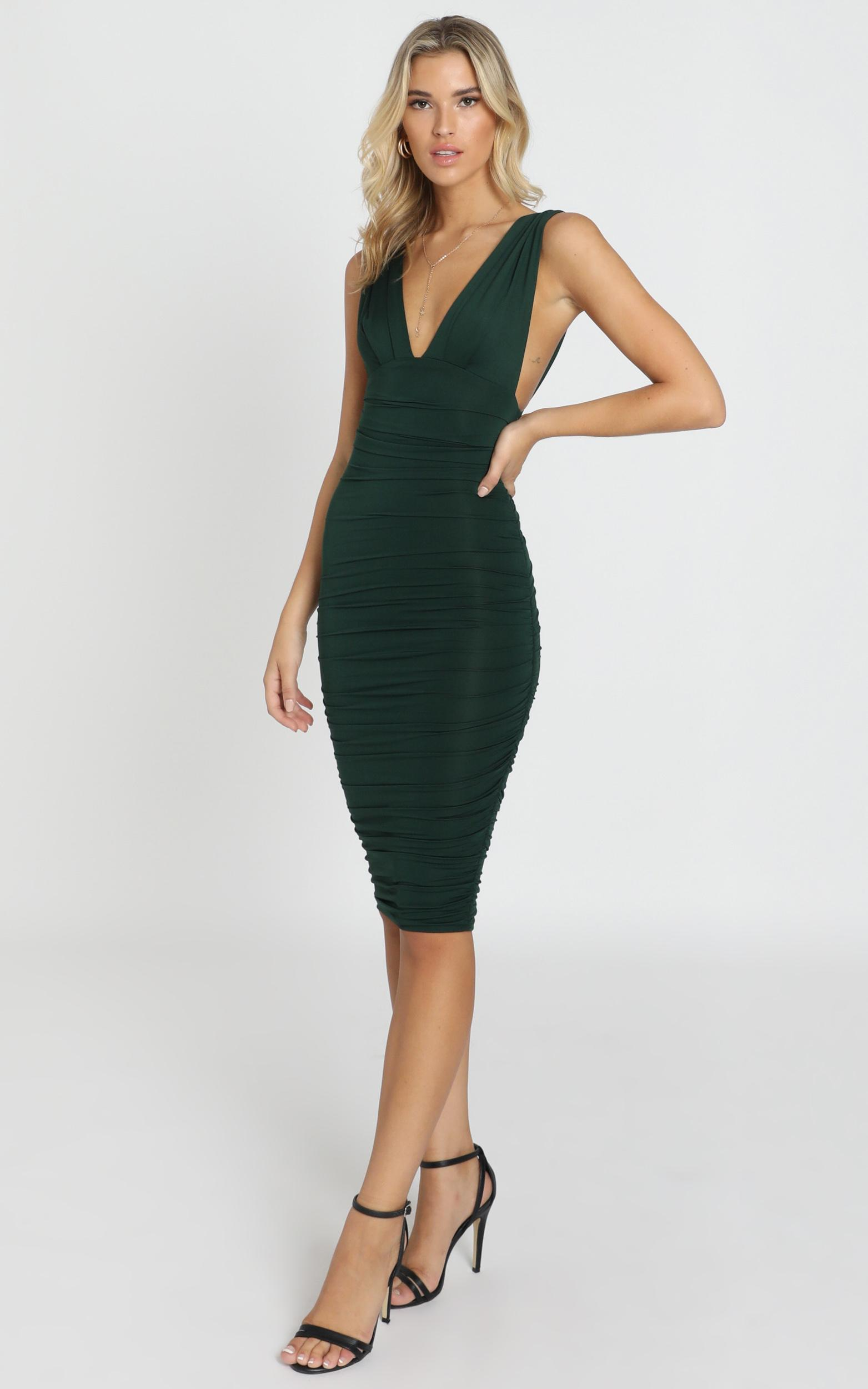 Bring It All dress in emerald green - 16 (XXL), Green, hi-res image number null