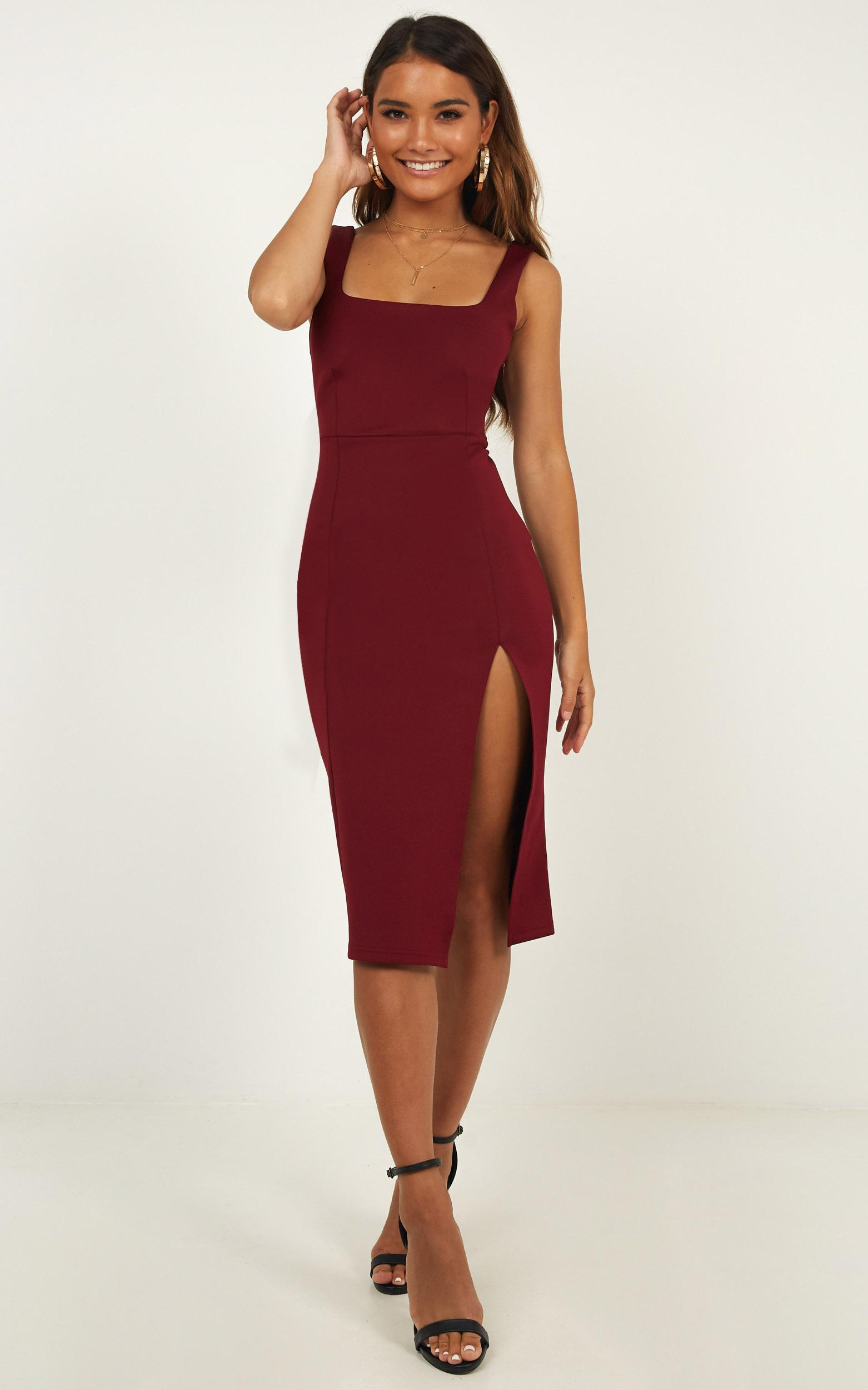 Mini Love Dress In Wine - 4 (XXS), Wine, hi-res image number null