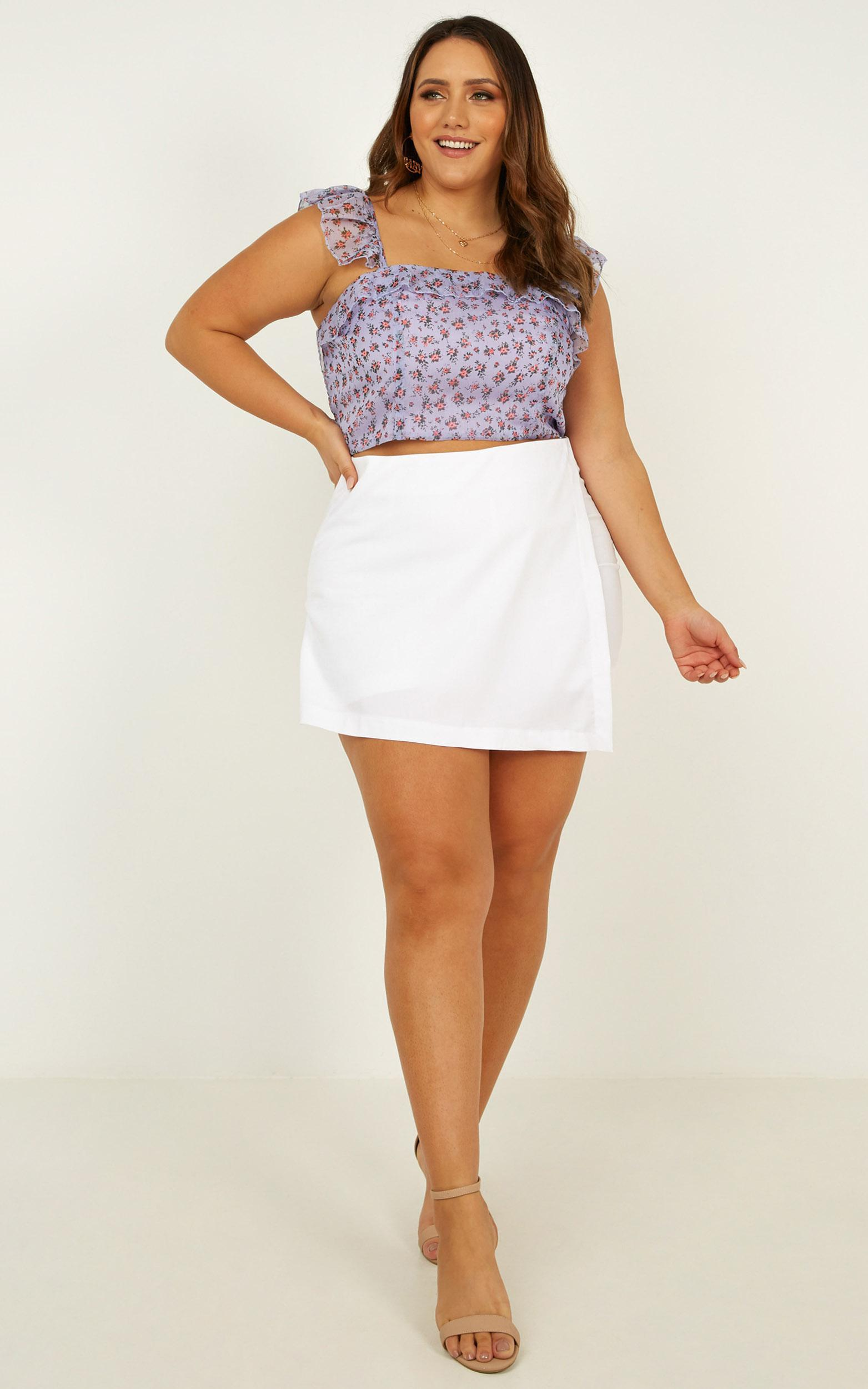 Sun Kisses Top In lilac floral - 16 (XXL), Purple, hi-res image number null
