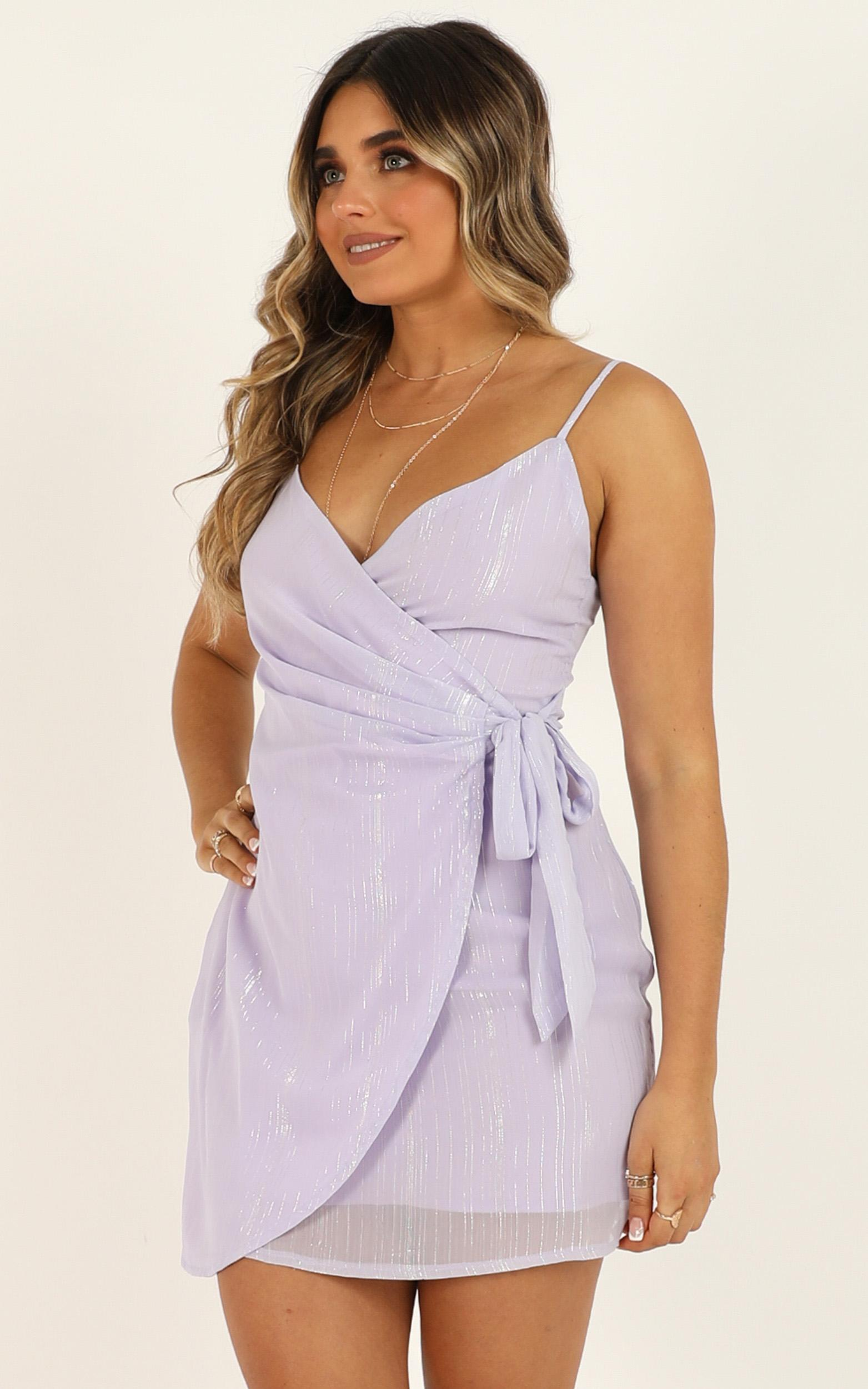Found By You Dress In Lilac Lurex - 4 (XXS), Purple, hi-res image number null