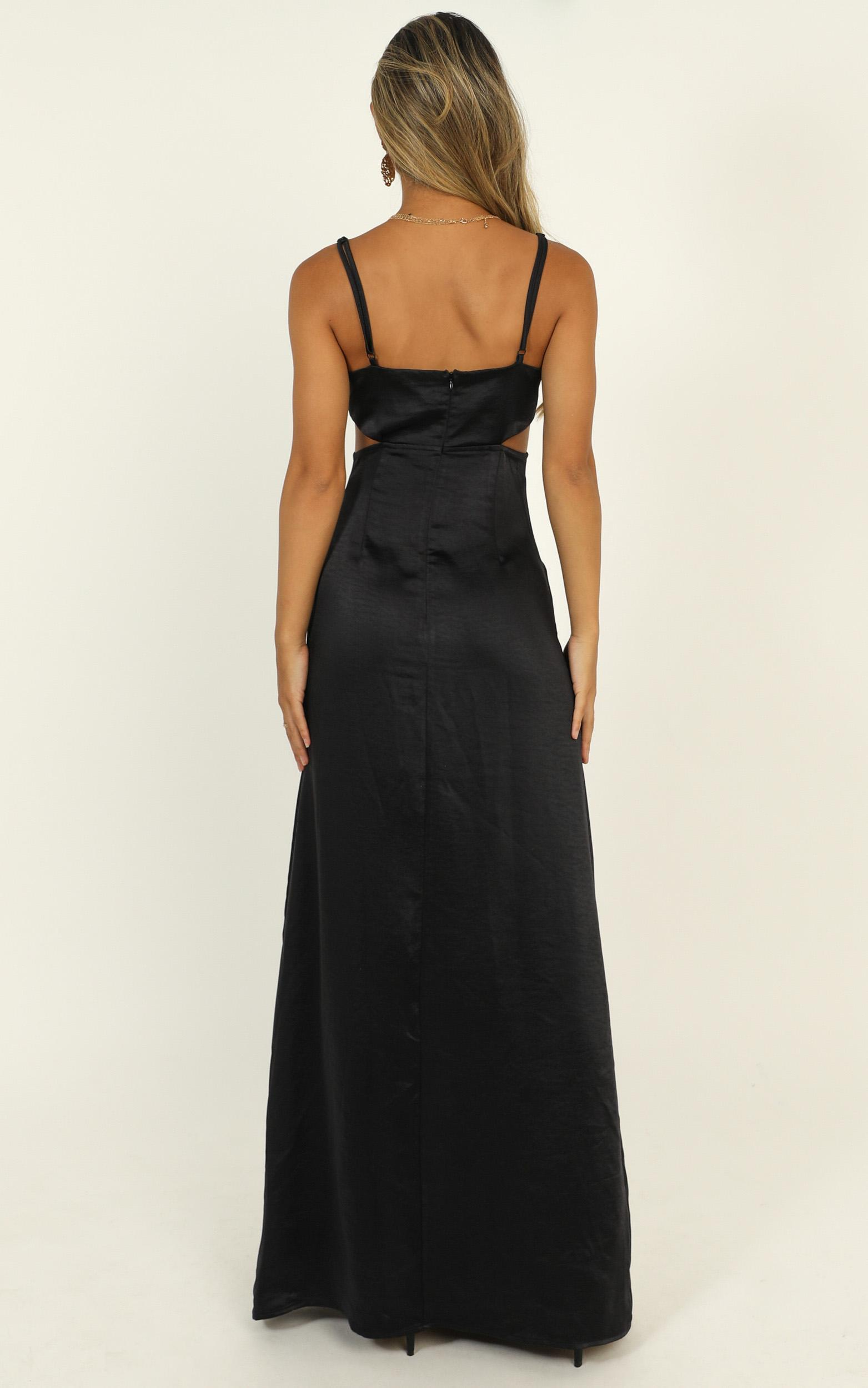 A Special Mention Dress in midnight satin - 20 (XXXXL), Navy, hi-res image number null