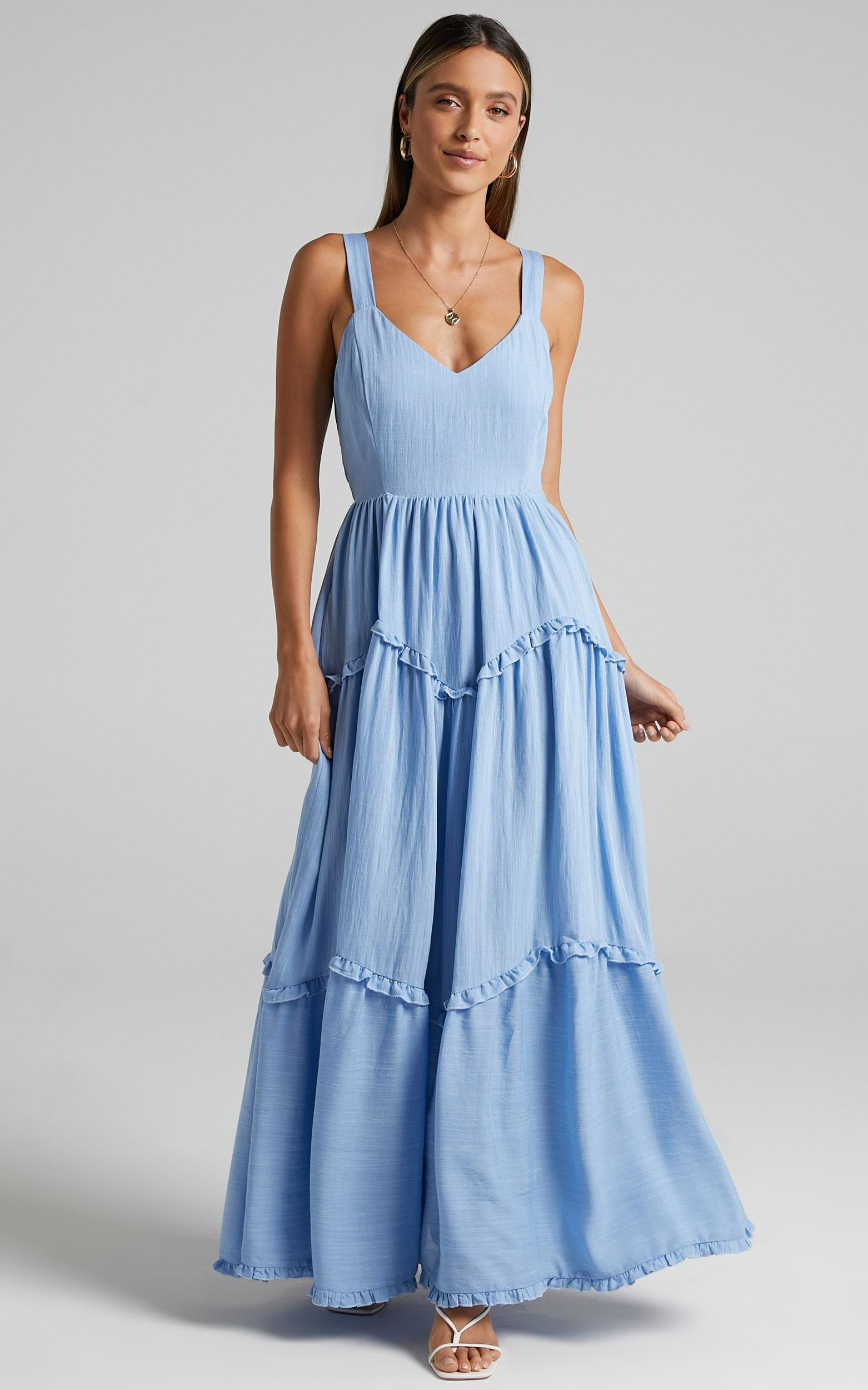 Sakura Dress in Periwinkle Blue - 6 (XS), Blue, hi-res image number null