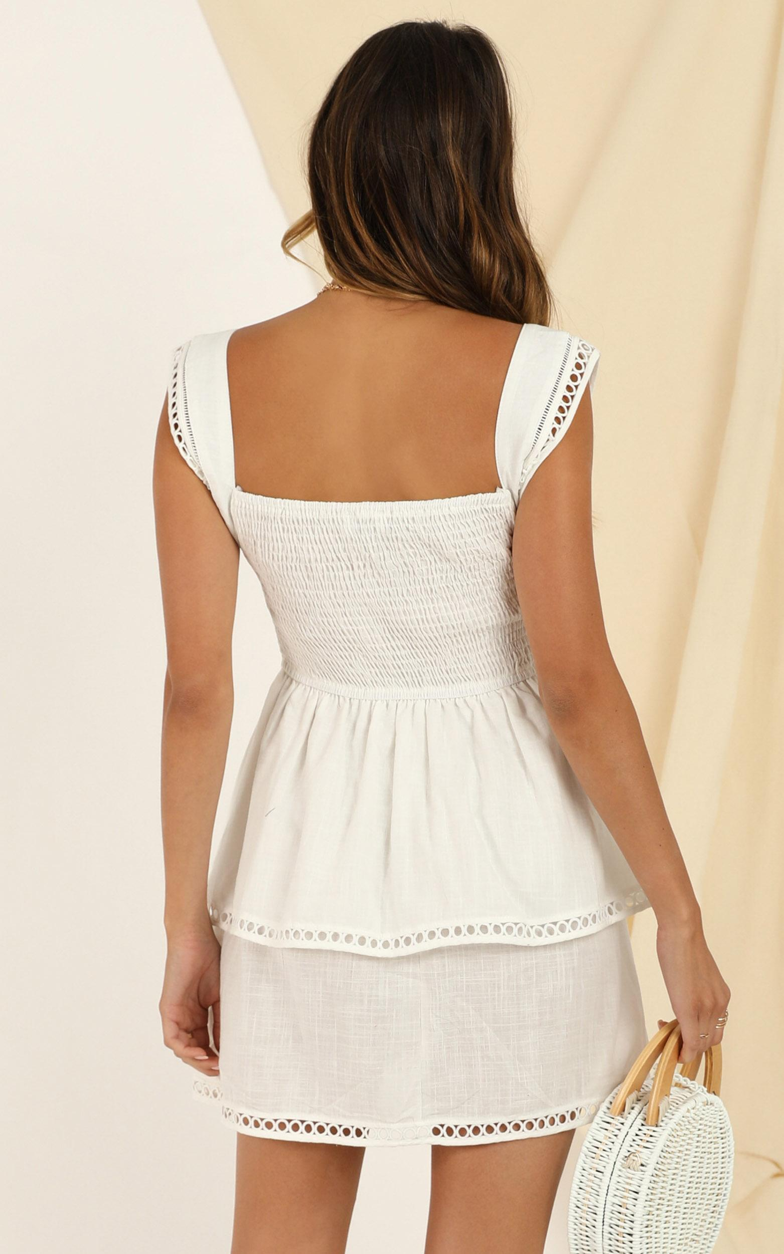 Turn Your Love Dress in white - 12 (L), White, hi-res image number null