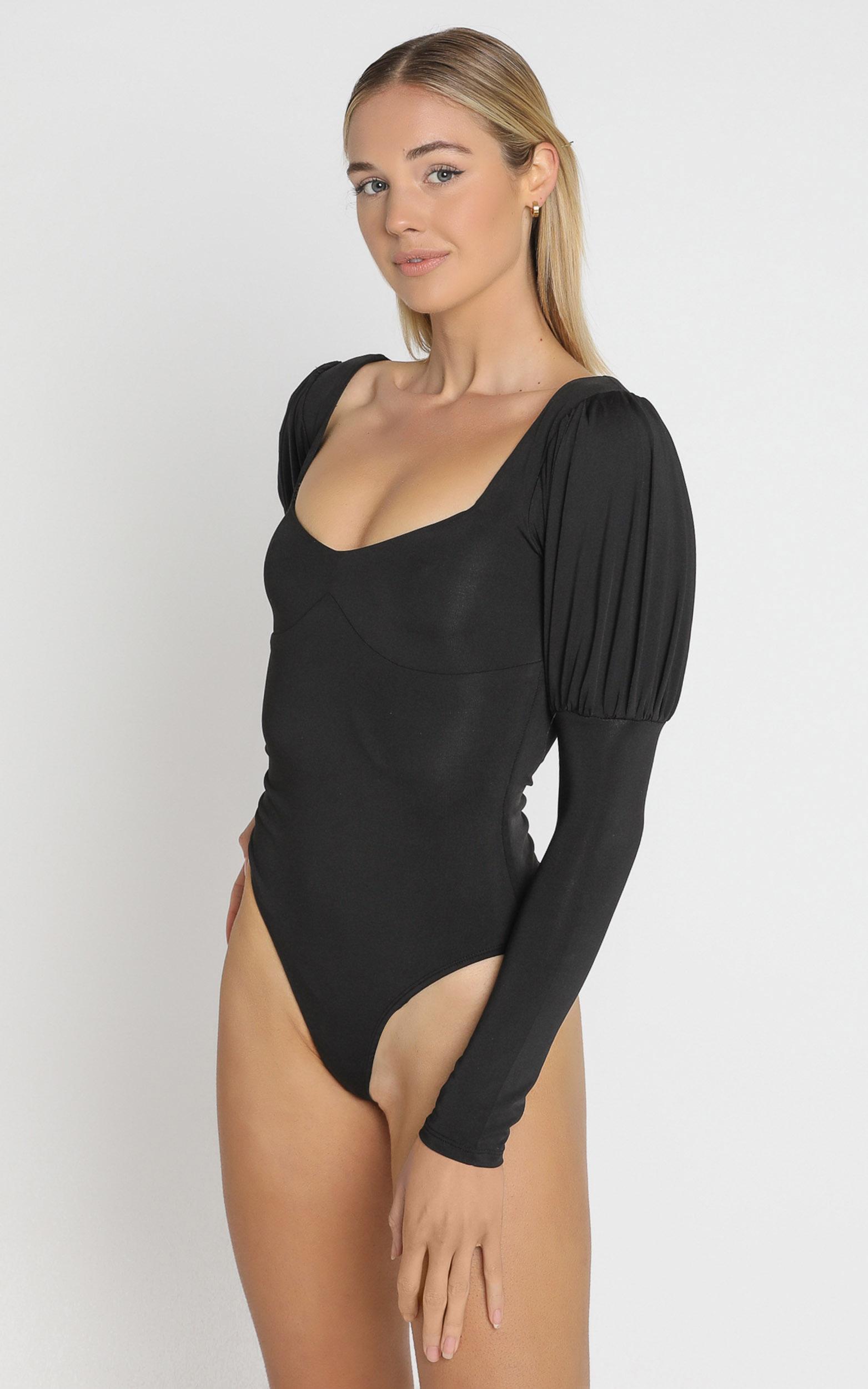 Adana Bodysuit in Black - 6 (XS), Black, hi-res image number null
