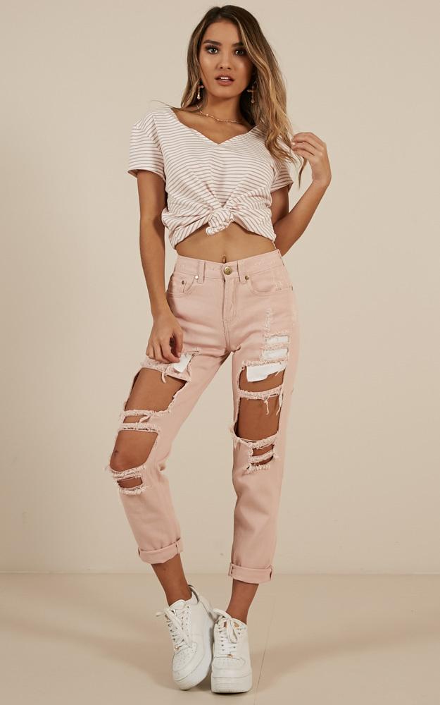 Django Boyfriend Jeans In blush - 6 (XS), Blush, hi-res image number null