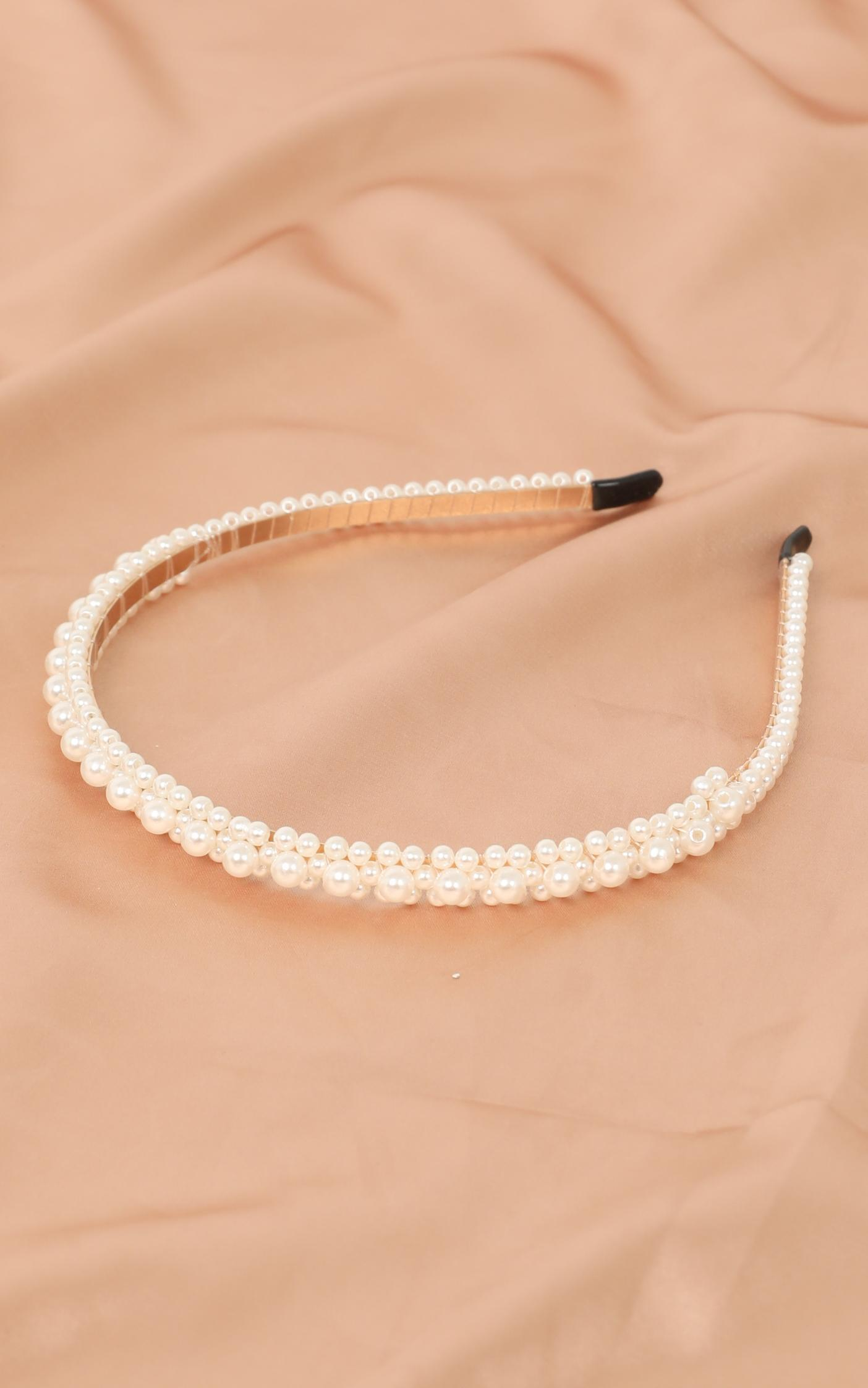 Everybody Loves You Headband In Pearl, , hi-res image number null
