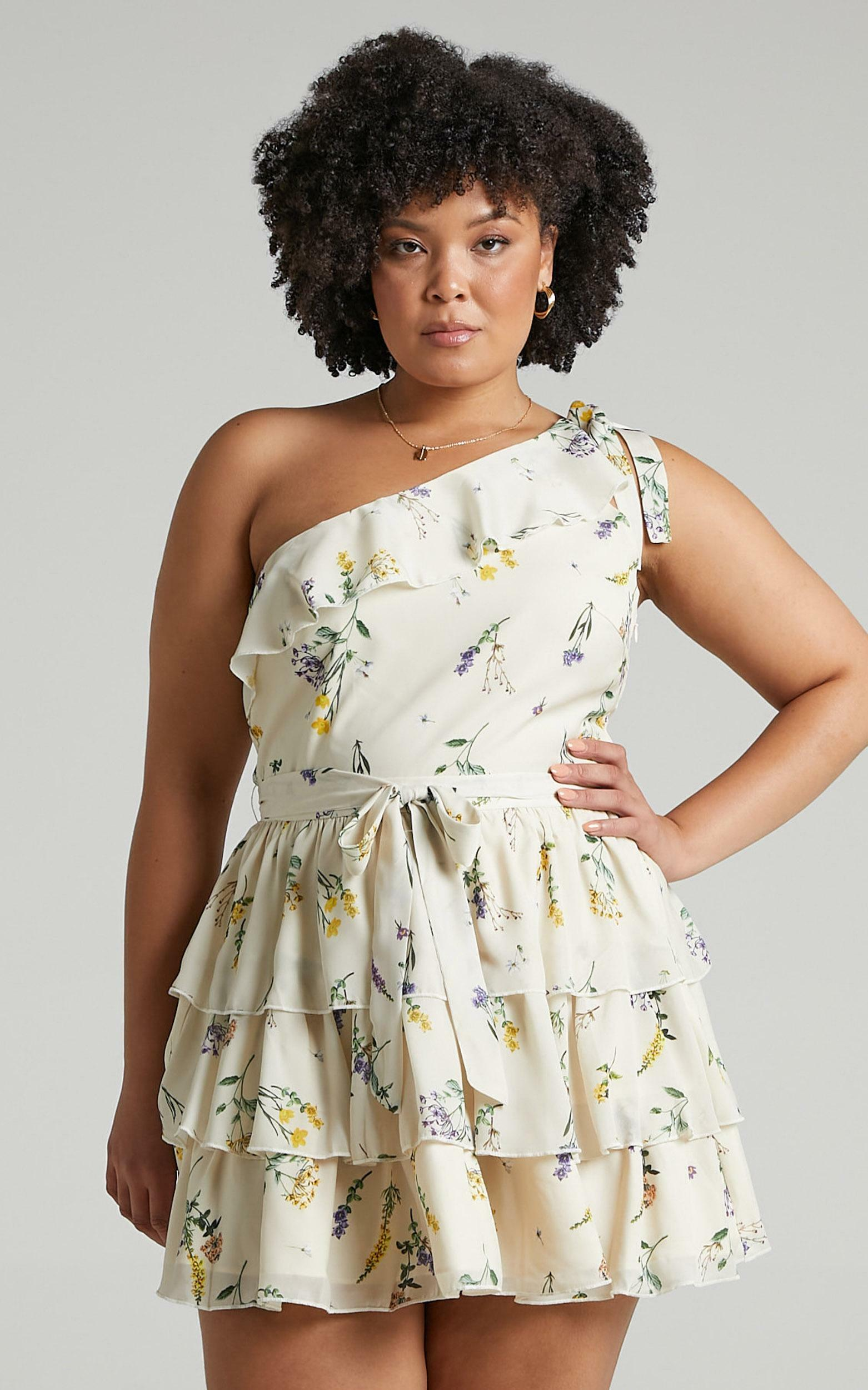Dreaming Of Us Dress in botanical floral - 20 (XXXXL), Cream, hi-res image number null
