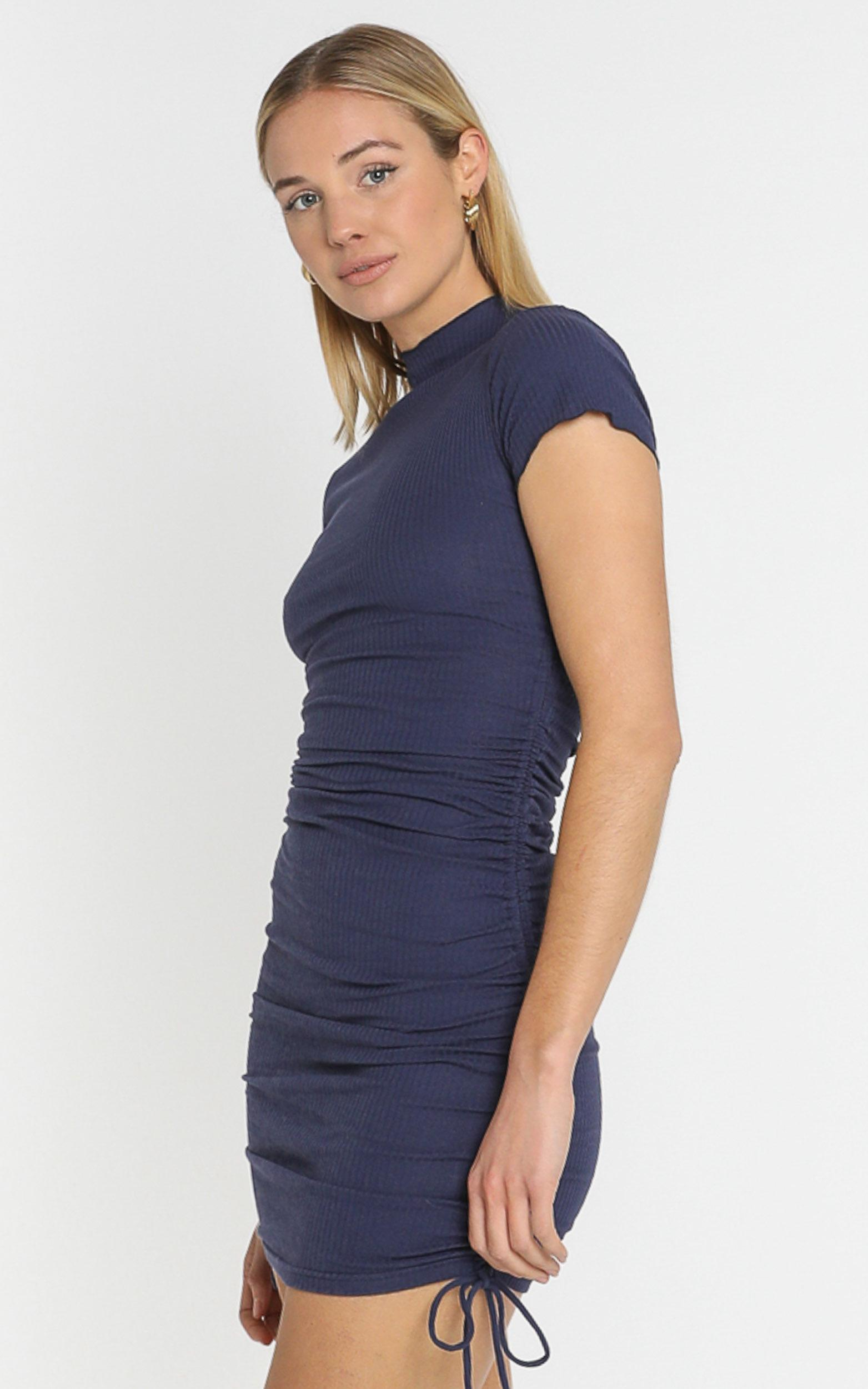Dalia Dress in Navy - 6 (XS), Navy, hi-res image number null