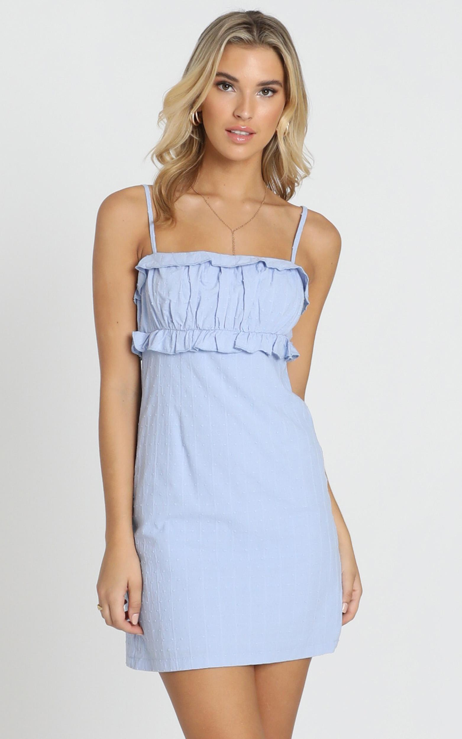 Lifes not simple Dress in blue linen look - 20 (XXXXL), Blue, hi-res image number null