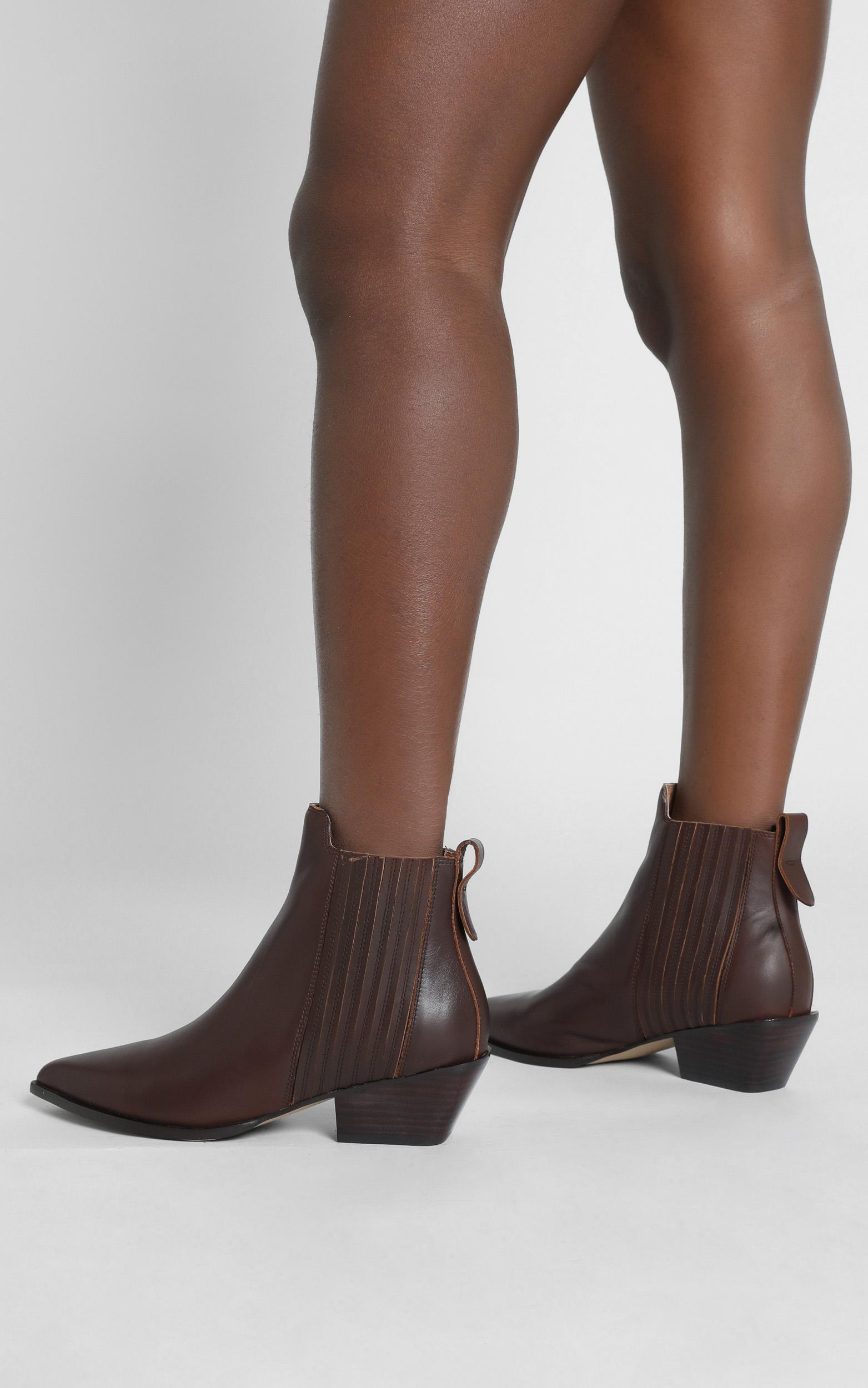 Alias Mae - Seth Boots in Choc Burnished - 36, Brown, hi-res image number null