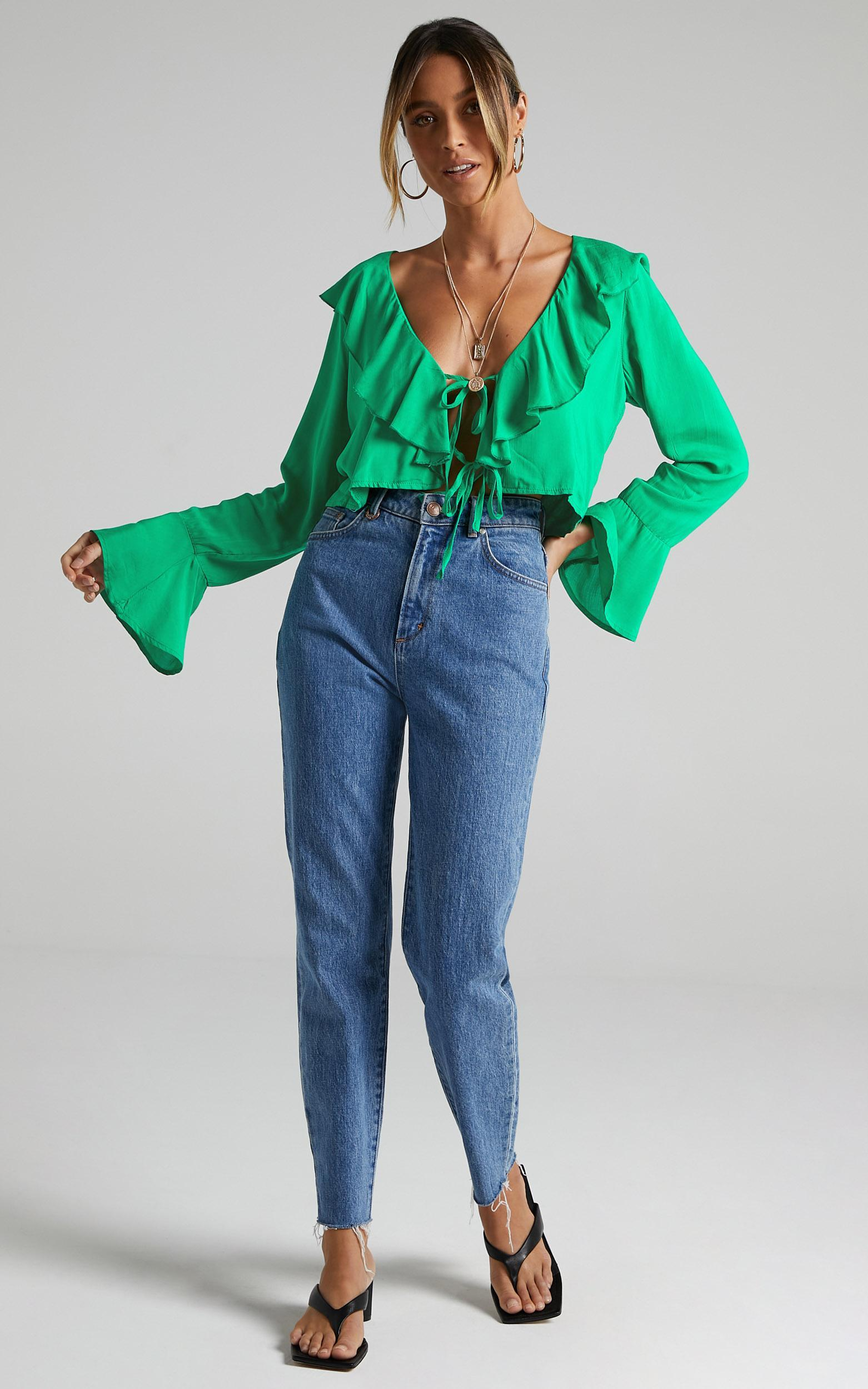 Rumina Top in Green - 6 (XS), Green, hi-res image number null