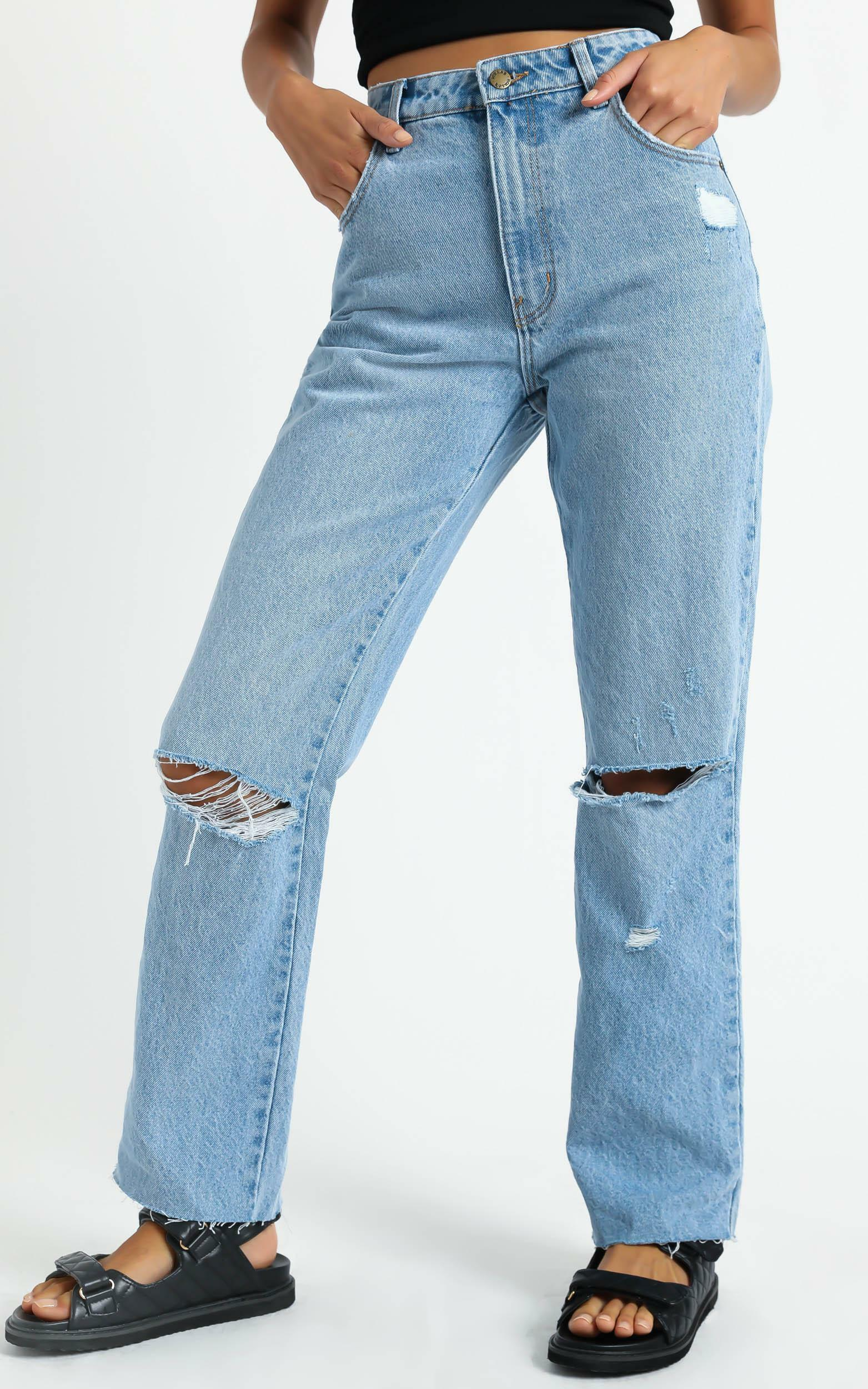 Rollas - Original Straight Jean in City Worn - 6 (XS), BLU15, hi-res image number null