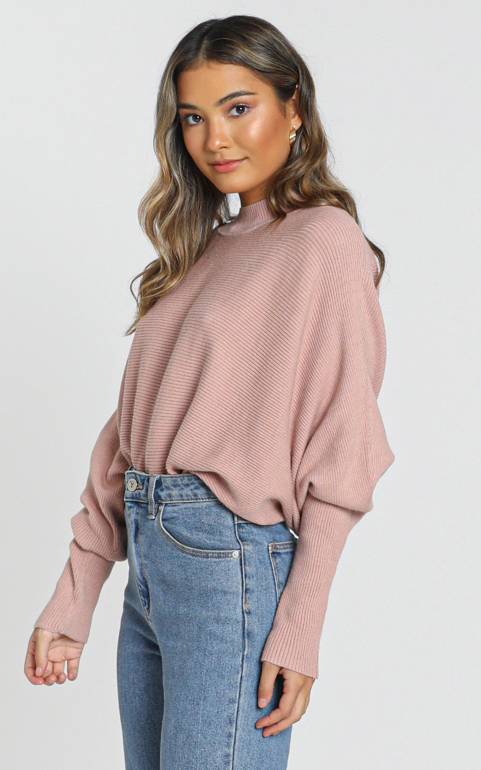 Upon The North knit sweater in blush - 6 (XS), Blush, hi-res image number null