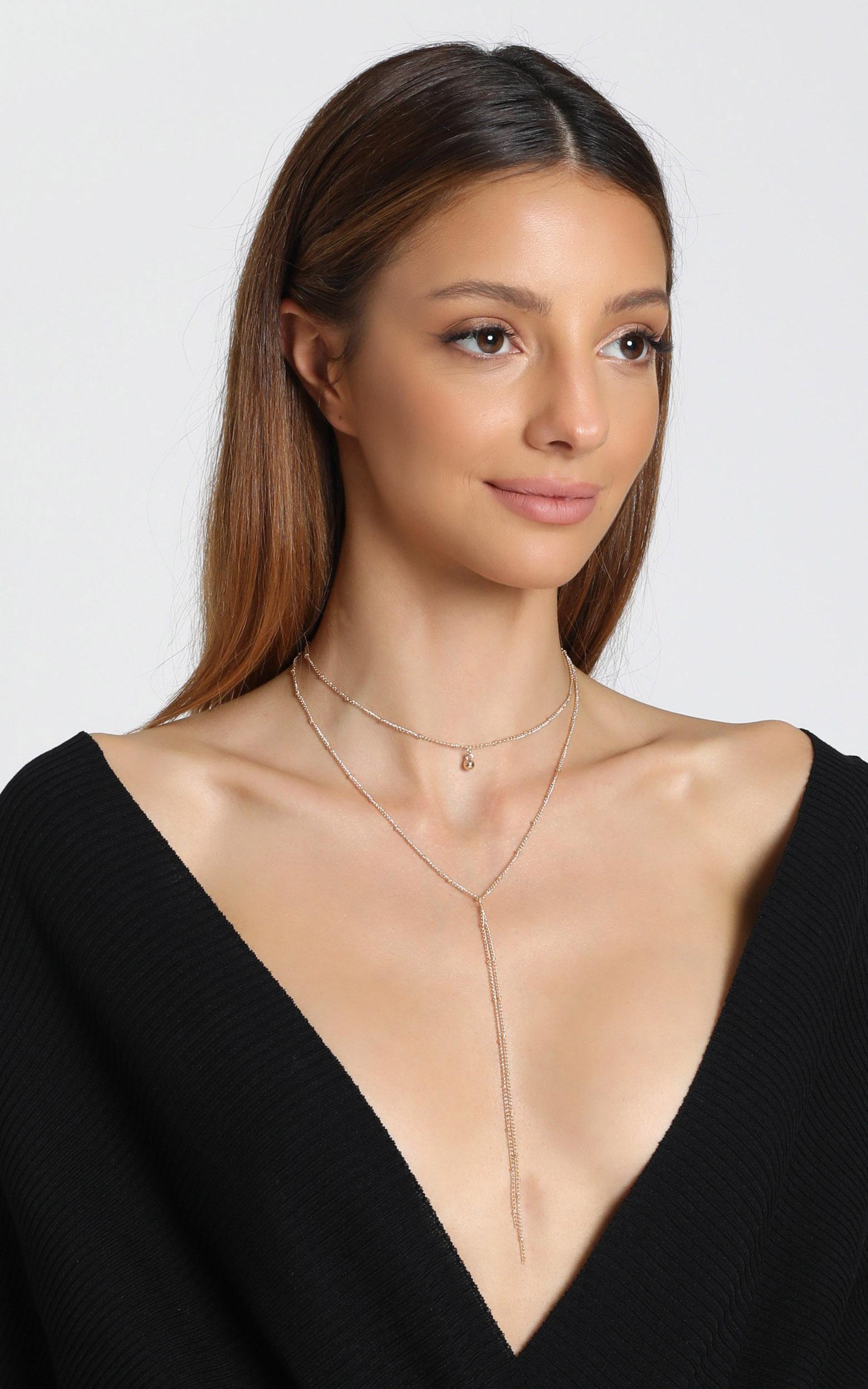 Estella Drop Necklace in Gold, , hi-res image number null