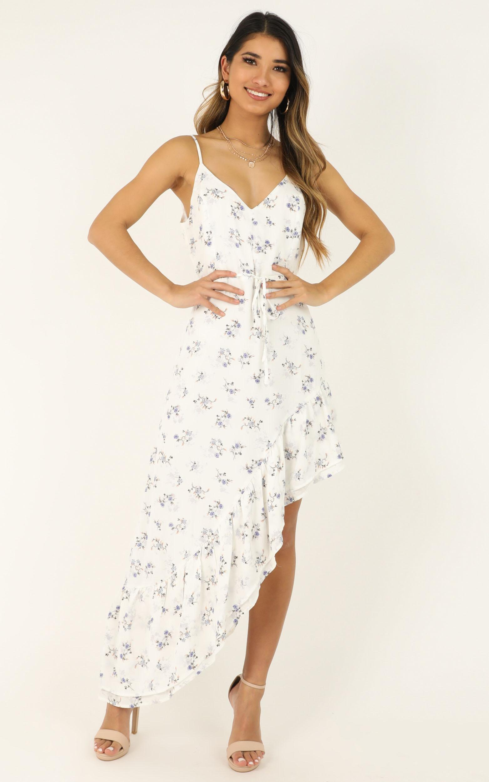 It wont matter dress in white floral - 12 (L), White, hi-res image number null