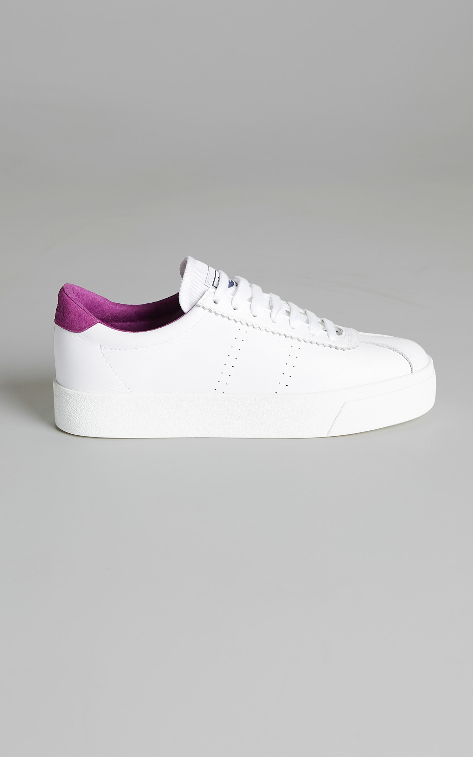 Superga - 2854 Club S 3 Leather Sneakers in White Fuchsia - 05, WHT1, hi-res image number null
