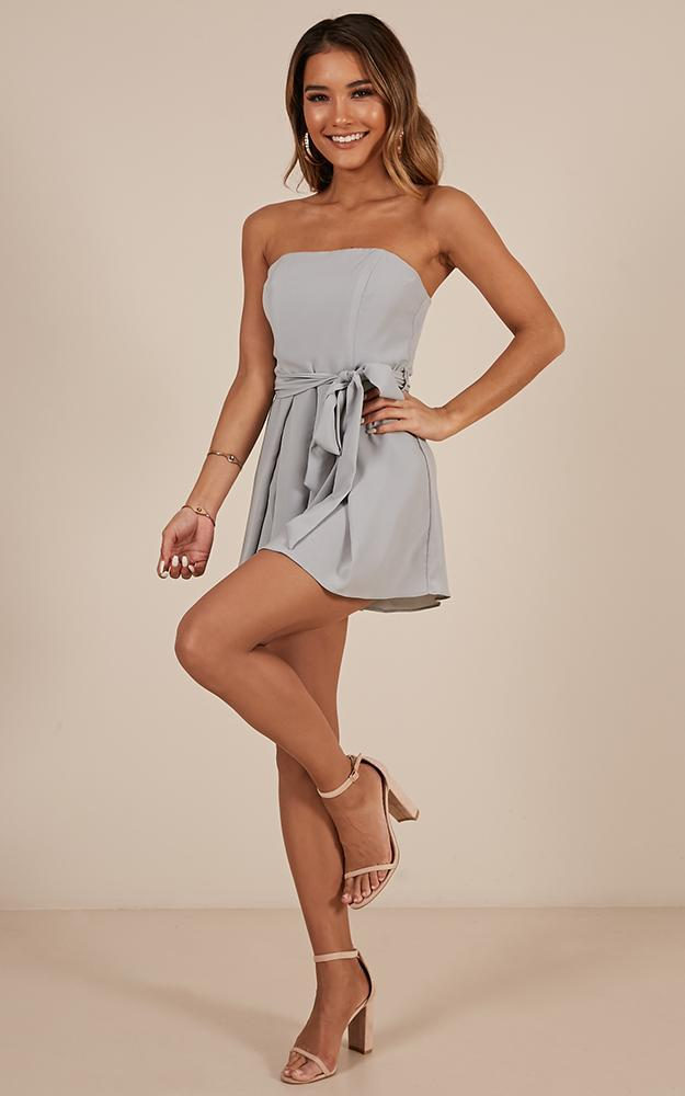 Memory Bliss playsuit in Dusty Blue - 14 (XL), Blue, hi-res image number null