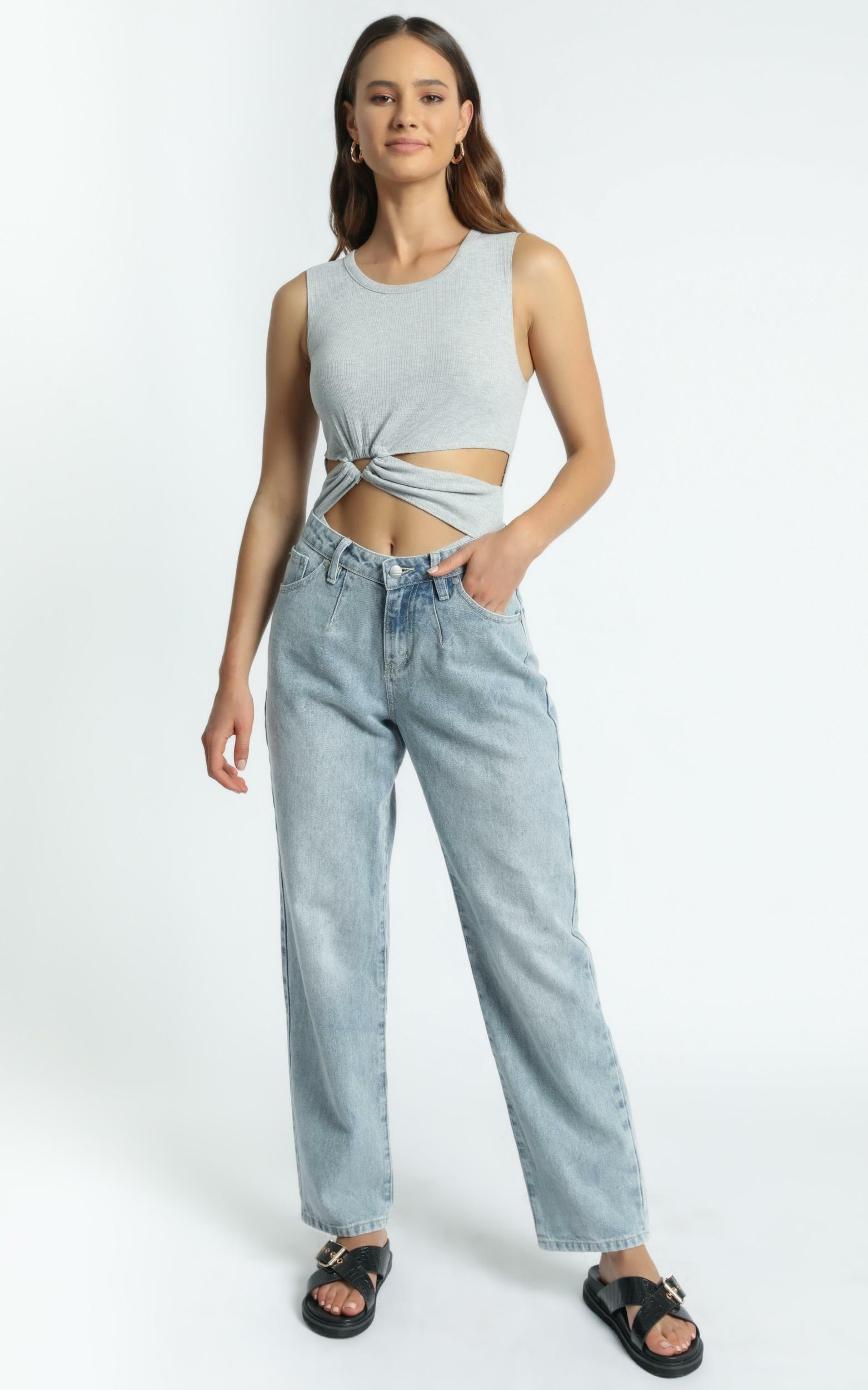Twiin - Calling Bodysuit in Light Grey - XS, GRY3, hi-res image number null