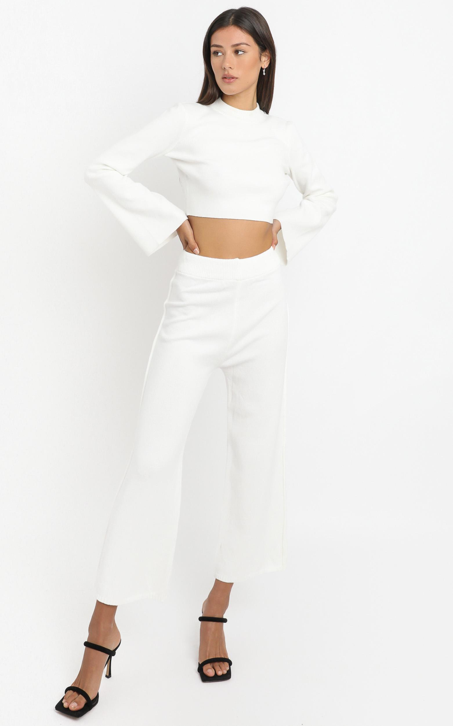 Sinead Knit Wide leg in Cream - 8 (S), CRE1, hi-res image number null