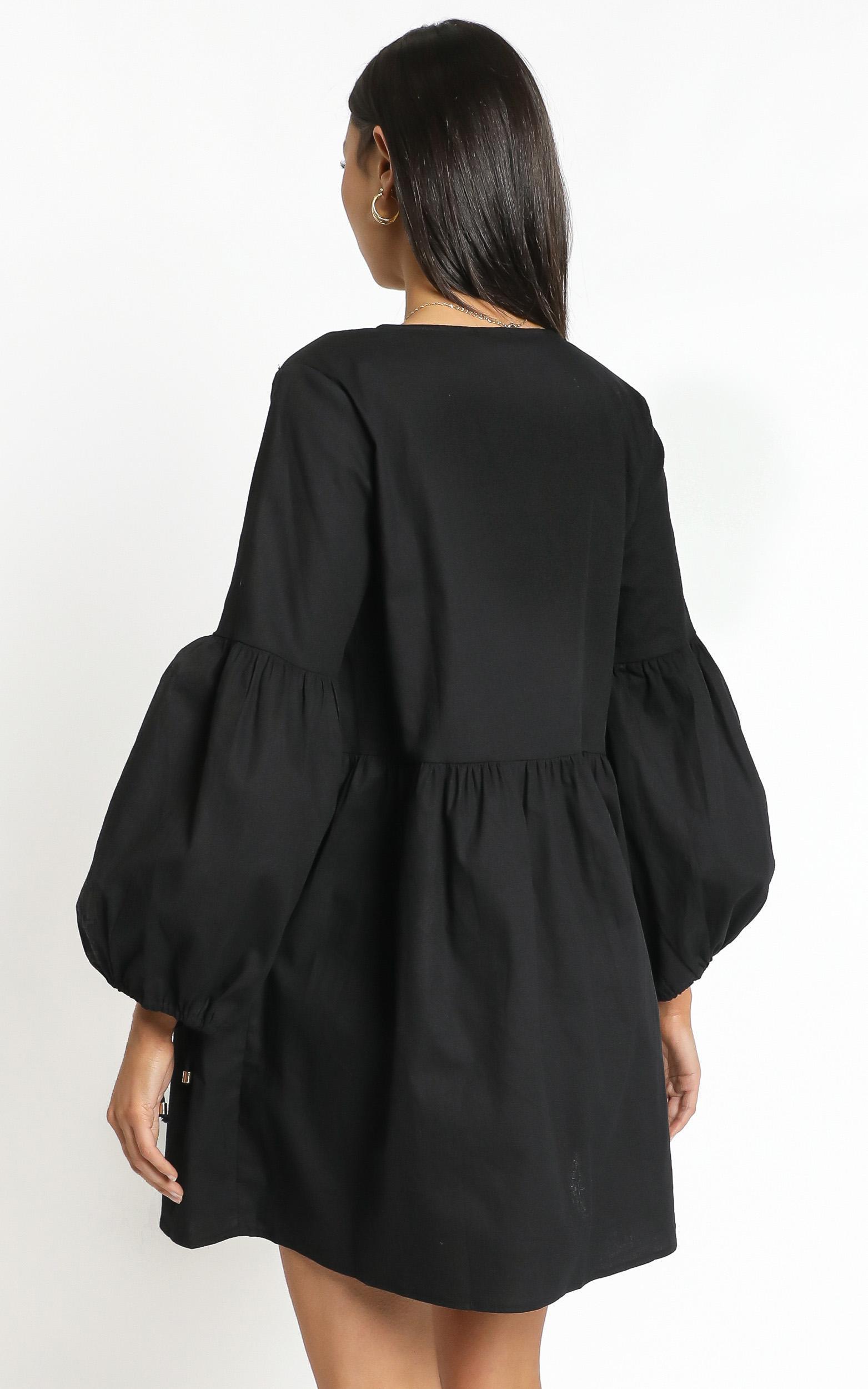 Zya The Label - Marigold Dress in Black - 14 (XL), Black, hi-res image number null