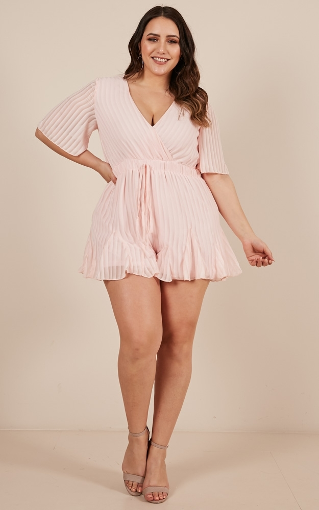 Play On My Heart playsuit in blush - 20 (XXXXL), Blush, hi-res image number null