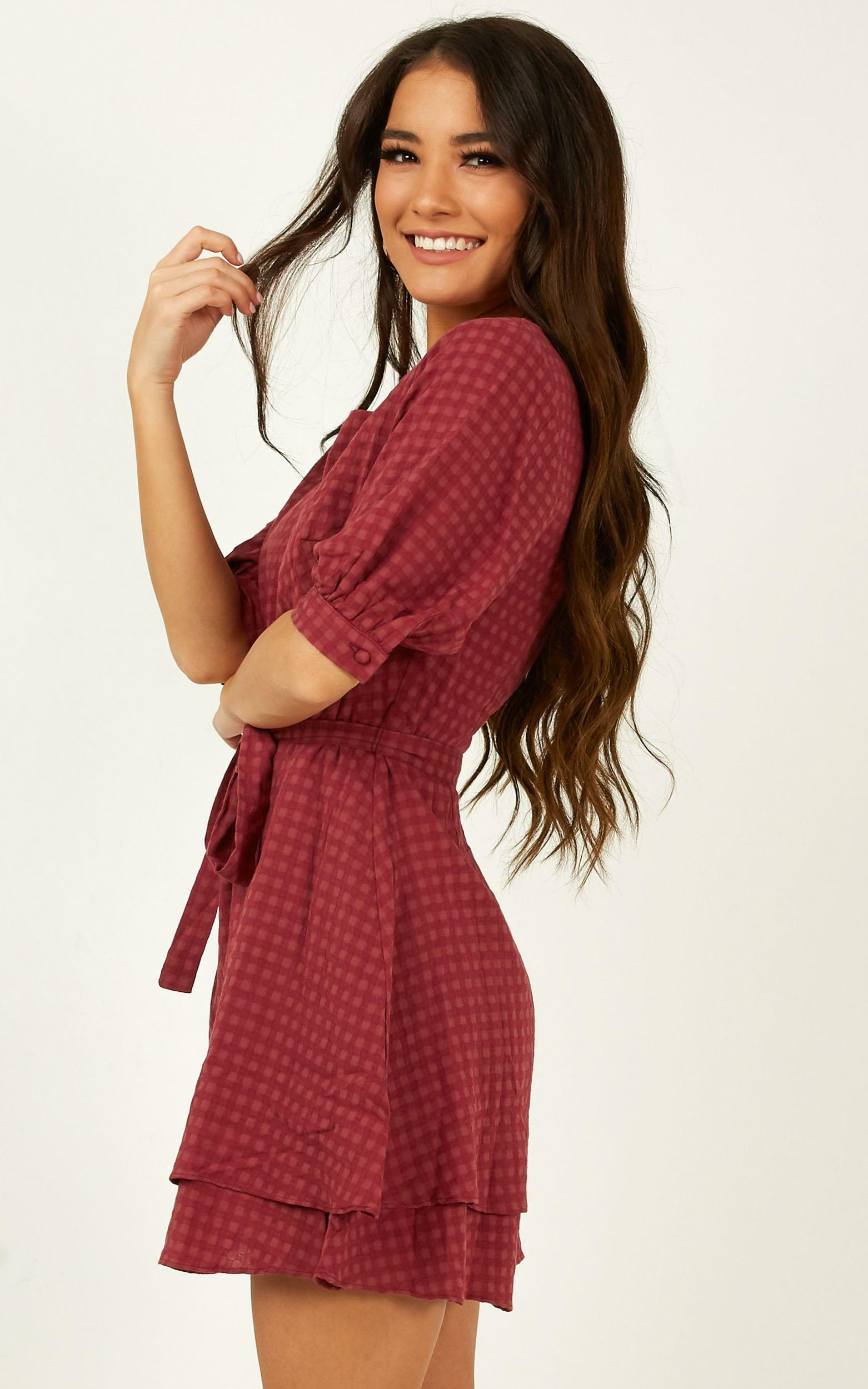 Constant Search Dress in plum - 20 (XXXXL), Plum, hi-res image number null