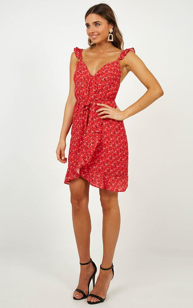 Summer tale dress in red - 4 (XXS), Red, hi-res image number null