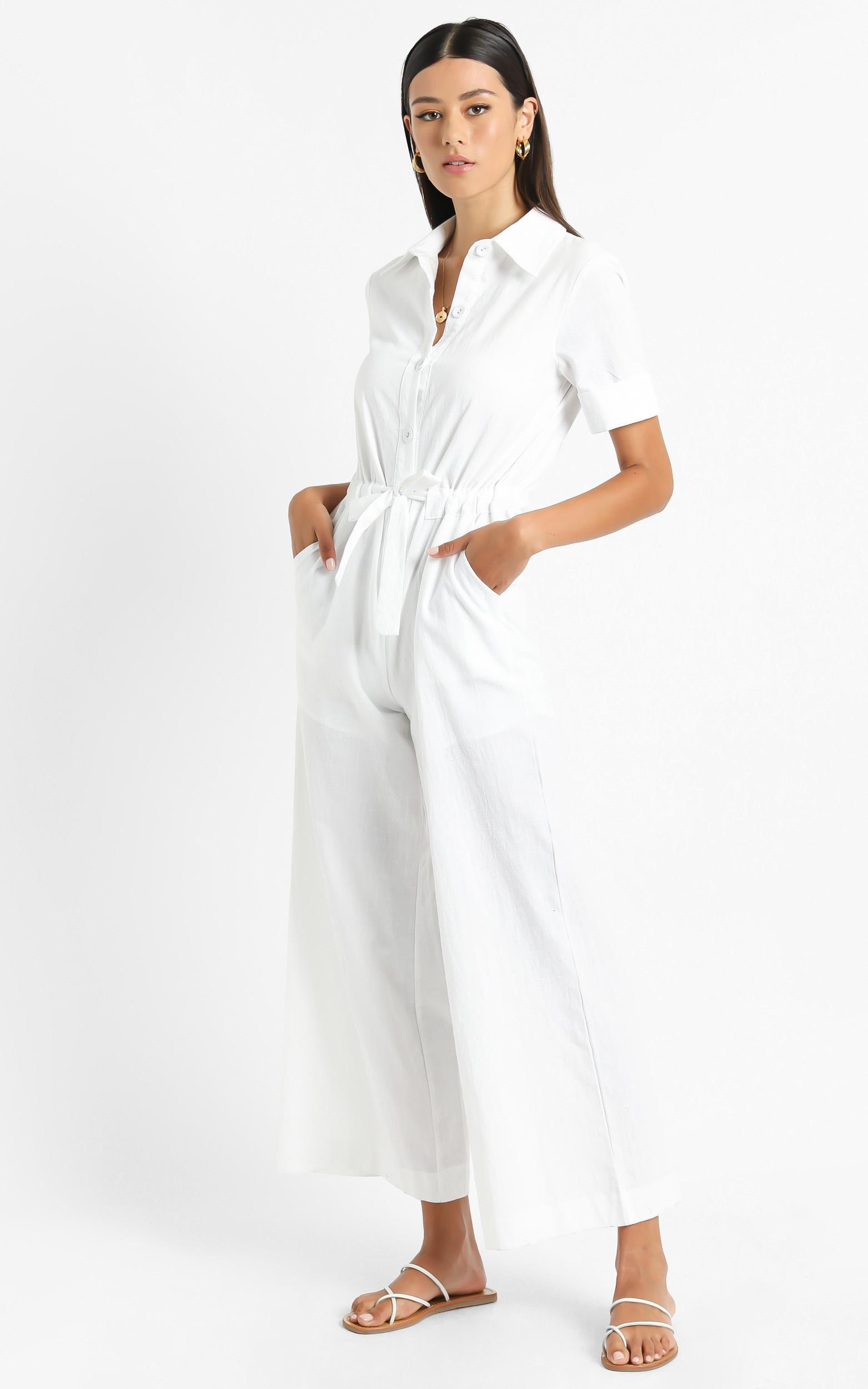 Marinie Jumpsuit in White - 6 (XS), White, hi-res image number null