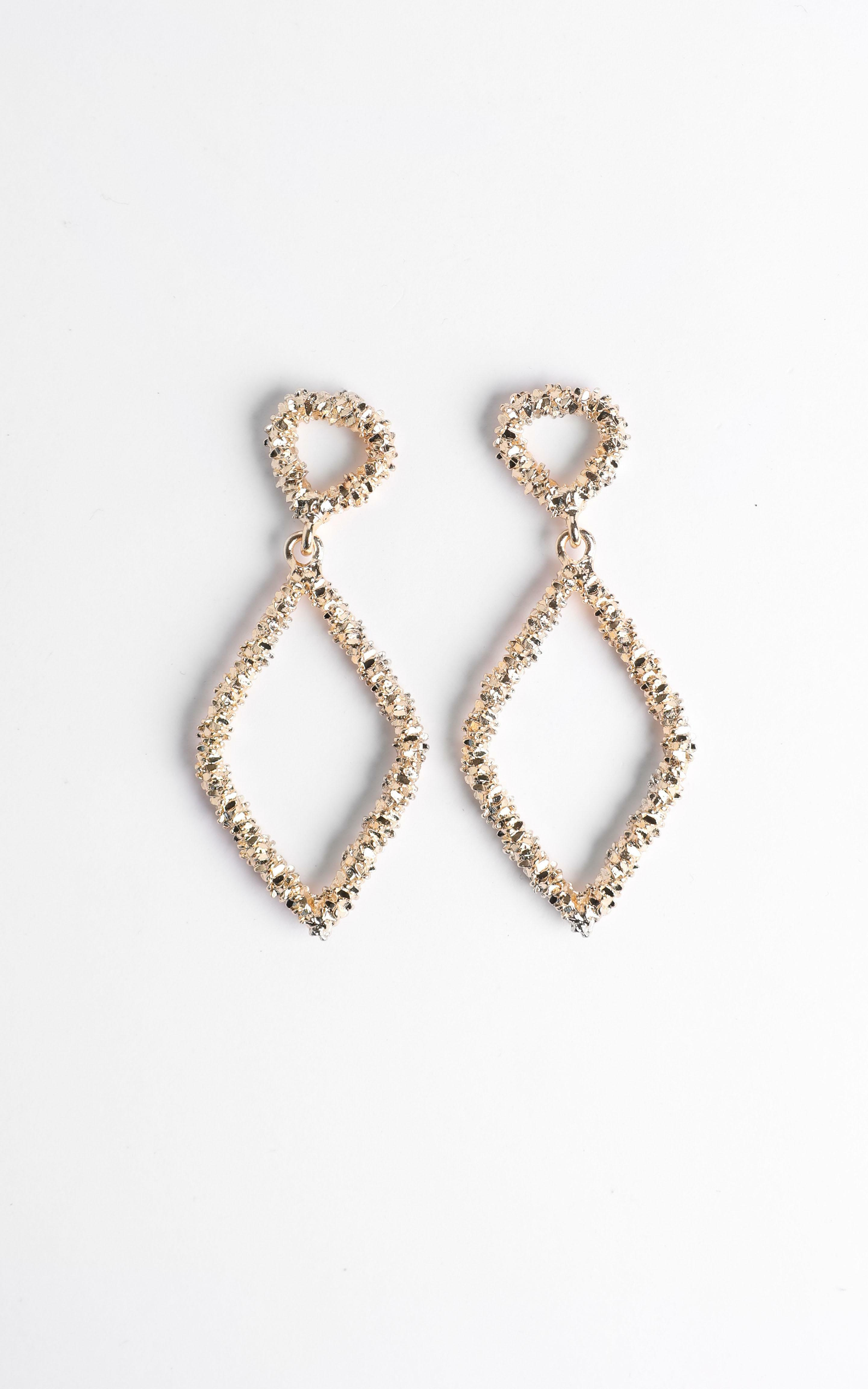 Disco Nights Sparkle Earrings in Gold, , hi-res image number null