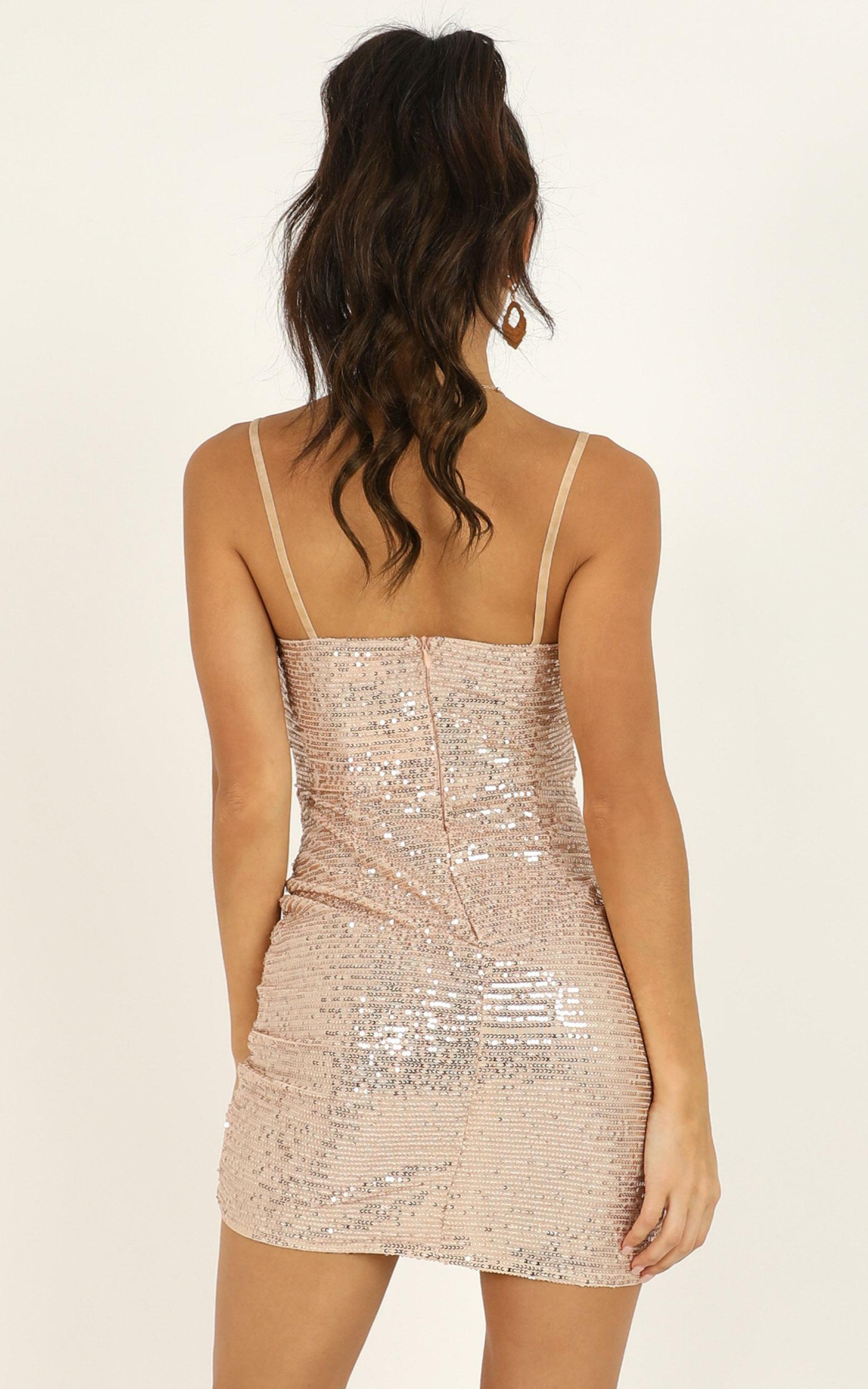 Lip Lock Dress in rose gold sequin - 20 (XXXXL), Rose Gold, hi-res image number null