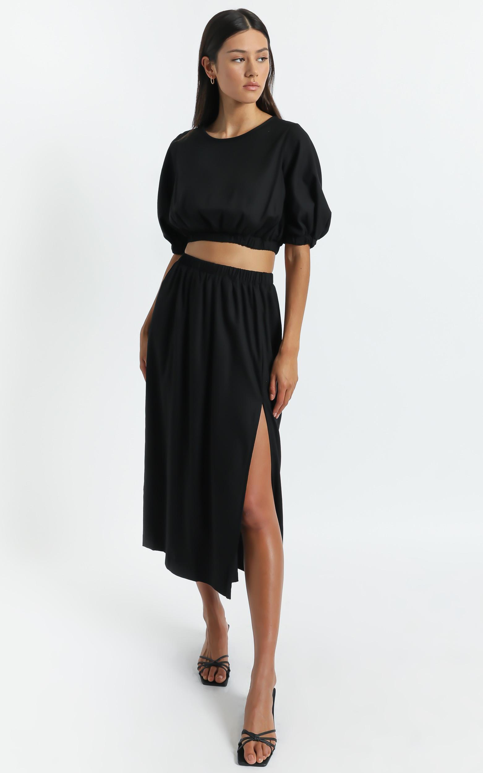 Asta Two Piece set in Black - 6 (XS), Black, hi-res image number null