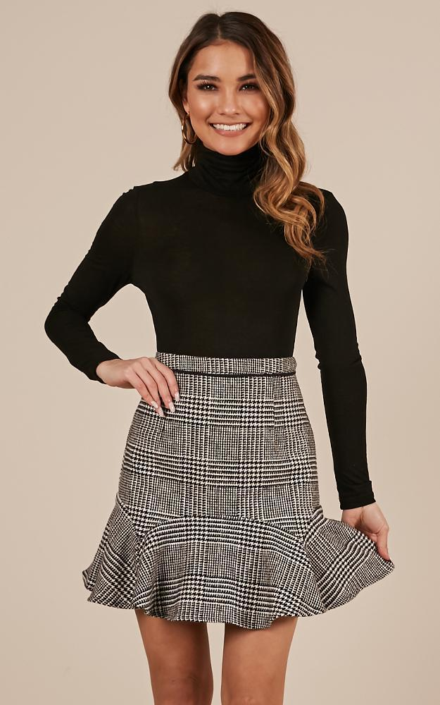 Want to be me Skirt in black houndstooth - 20 (XXXXL), Black, hi-res image number null