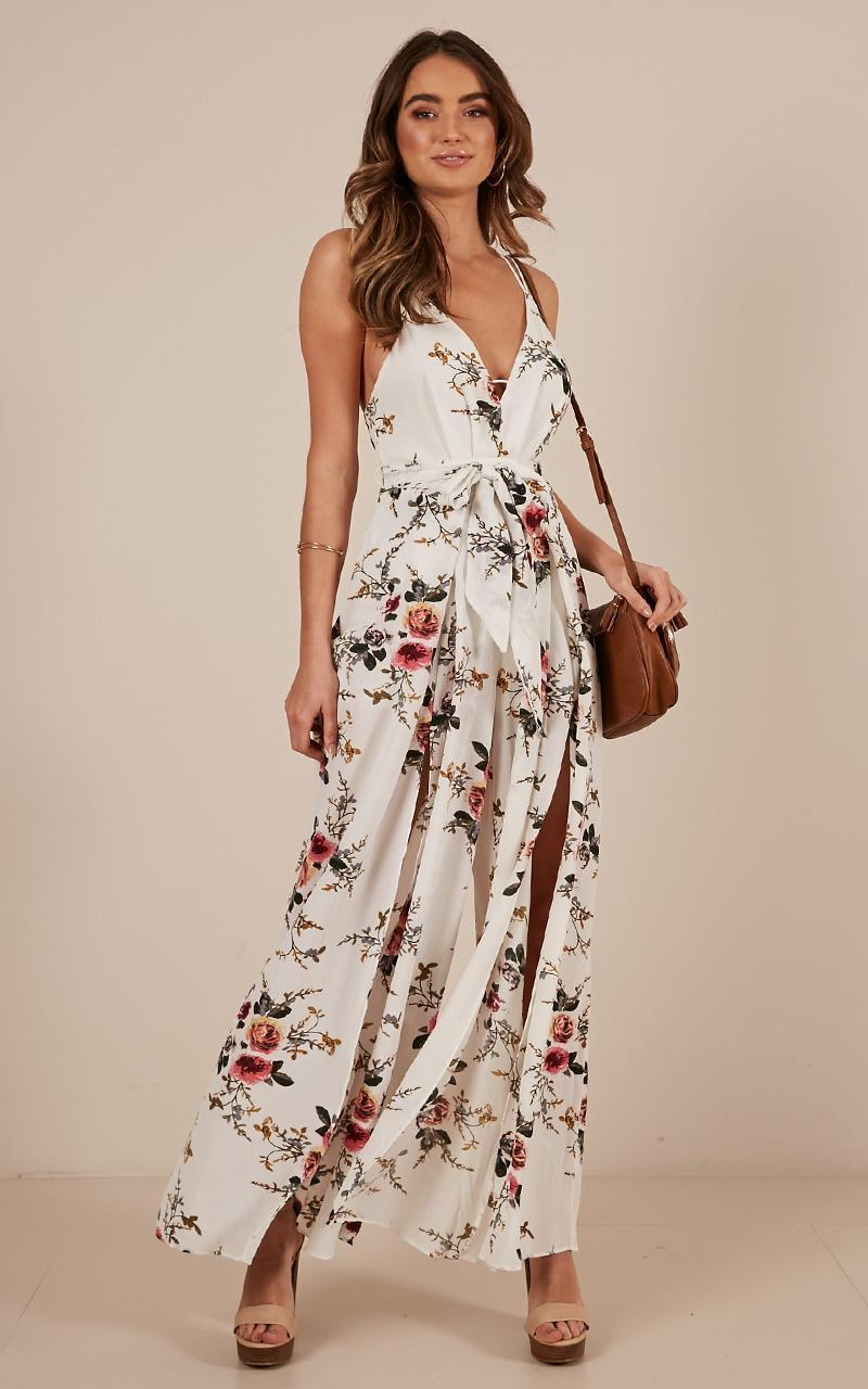 The way I am jumpsuit in white floral - 12 (L), White, hi-res image number null