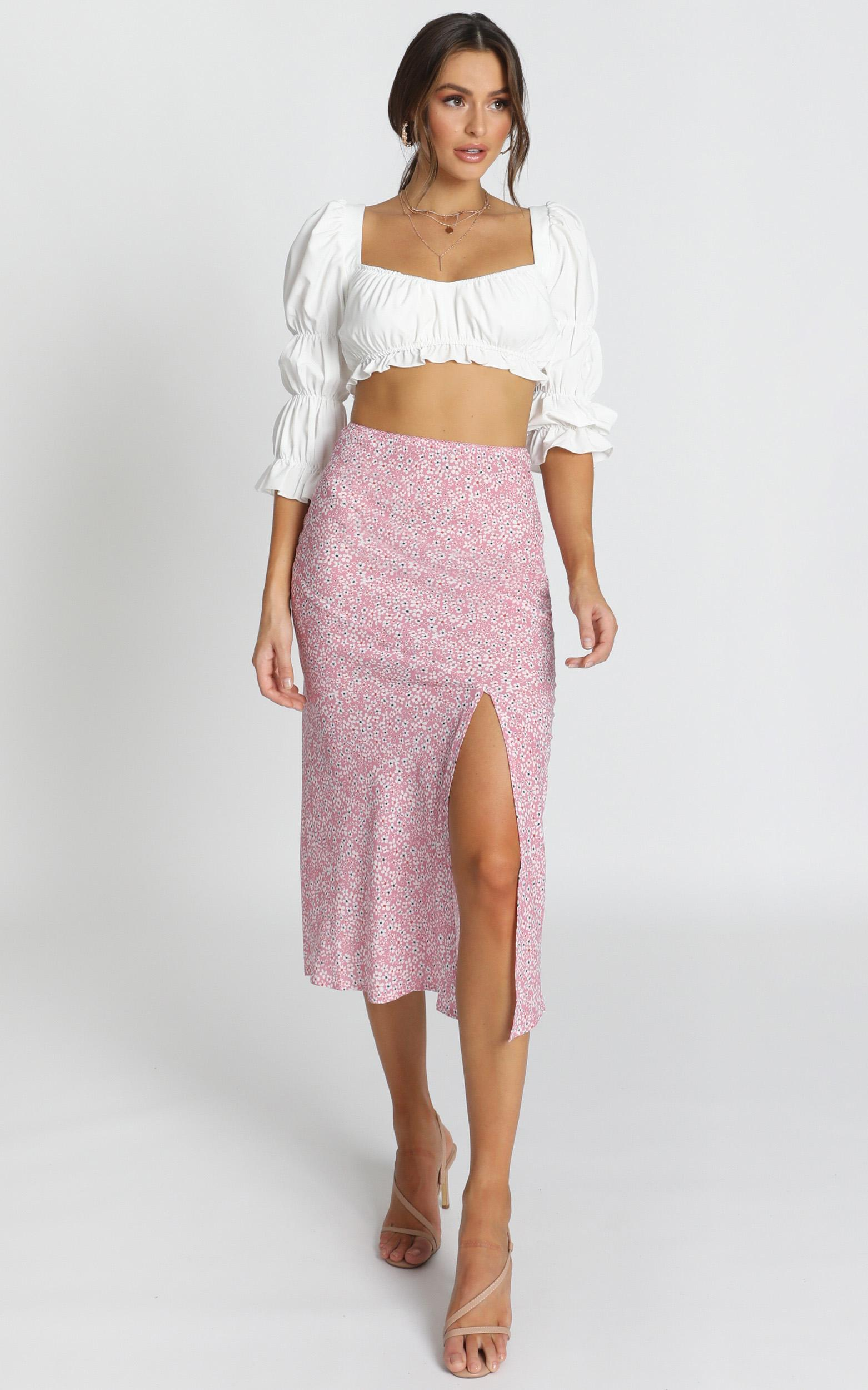 In My Arms skirt in lilac floral - 16 (XXL), Pink, hi-res image number null