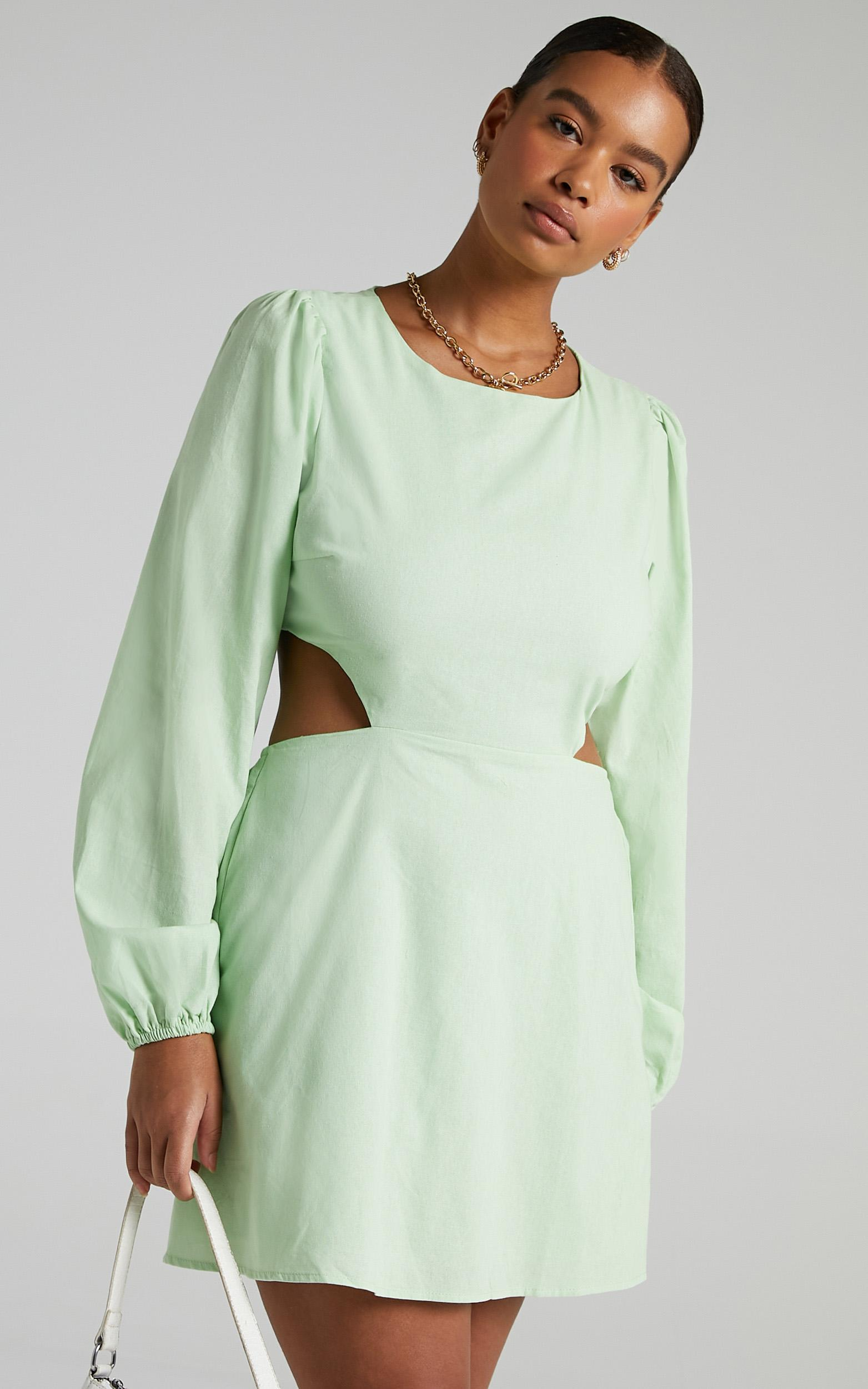 Egeria Dress in Apple Green - 6 (XS), Green, hi-res image number null