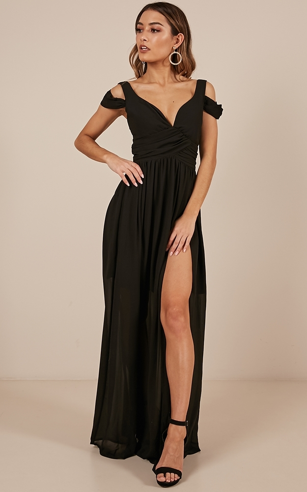 Stand Close dress in black-4 (XXS), Black, hi-res image number null