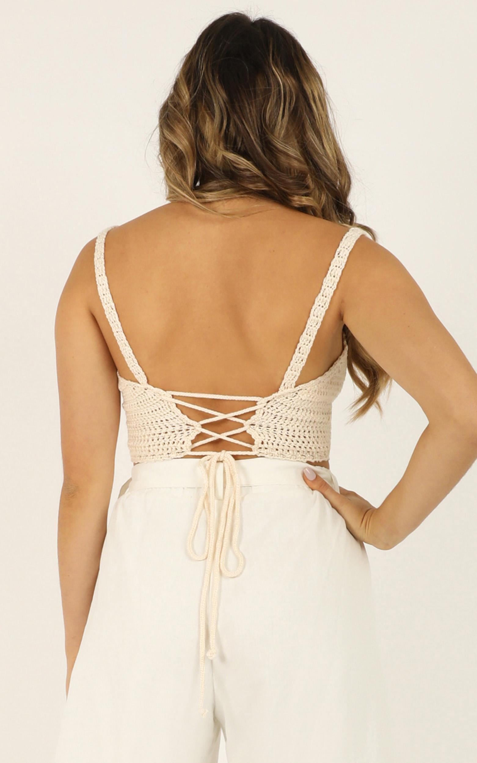 Radiance Knit Top in cream - 18 (XXXL), Cream, hi-res image number null