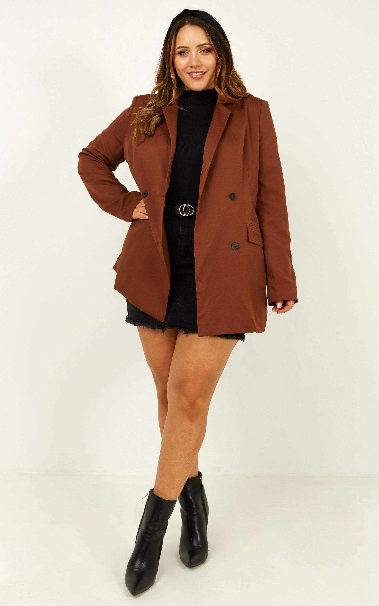 All Grown Up Blazer in chocolate - 20 (XXXXL), Brown, hi-res image number null