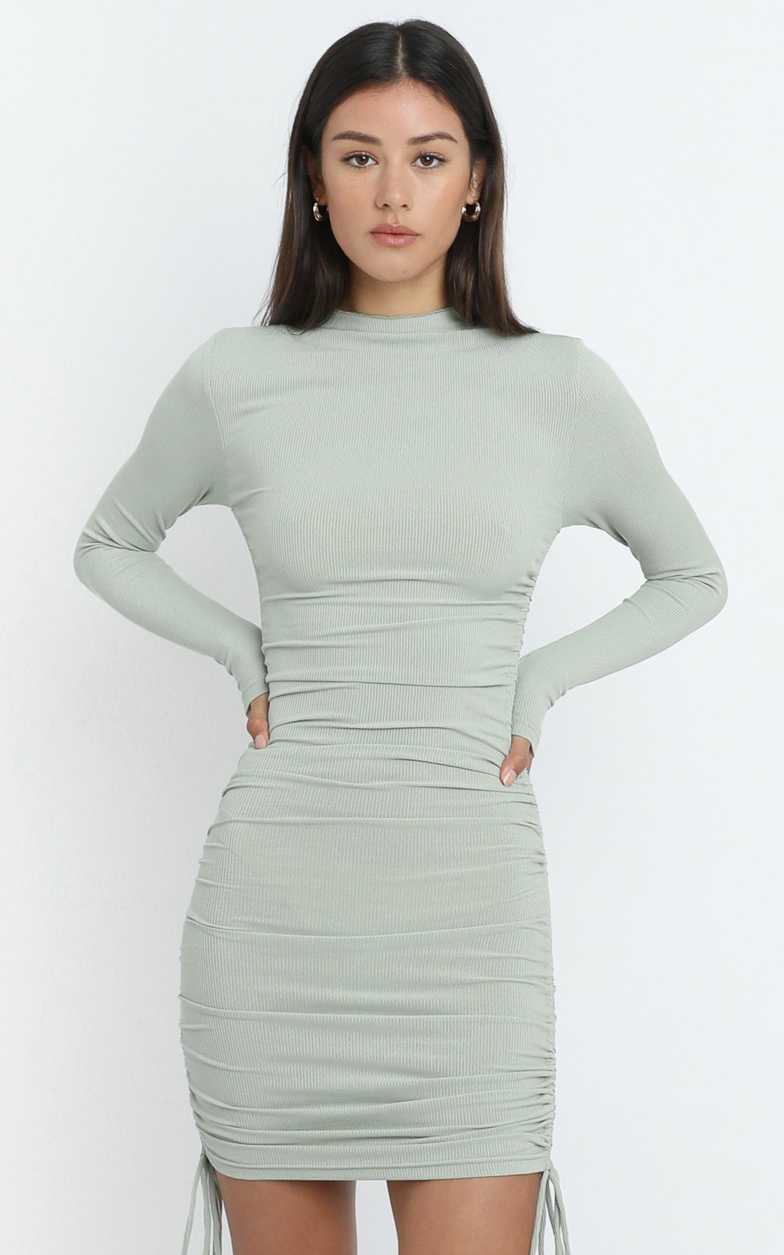 Iris Dress in Sage - 6 (XS), Sage, hi-res image number null