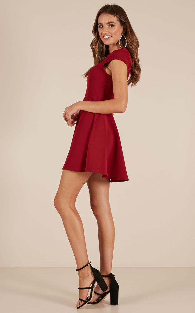 Cherish You dress in  wine - 20 (XXXXL), Wine, hi-res image number null