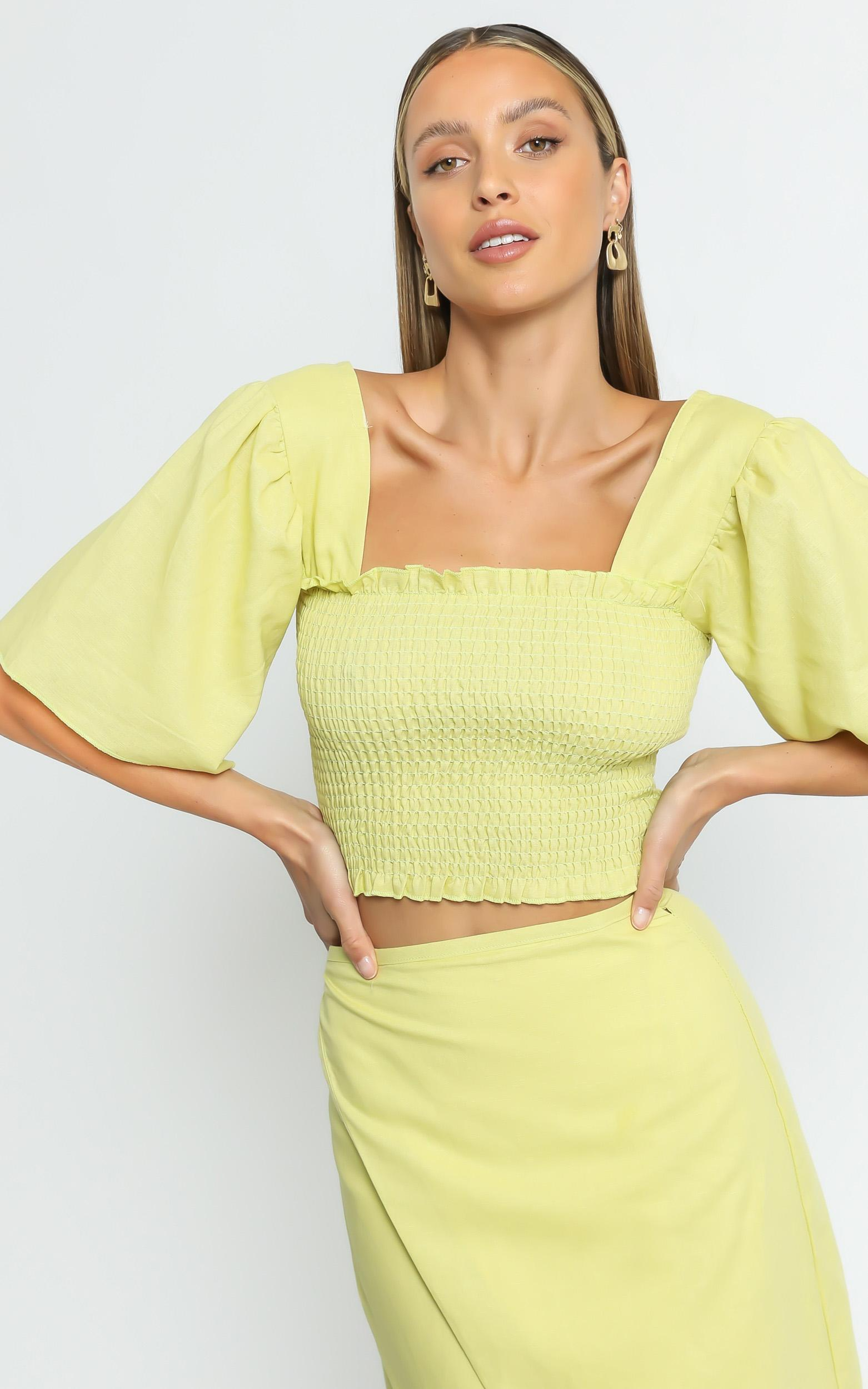 Charlie Holiday - Tuscany Top in Chartreuse - XS, Yellow, hi-res image number null