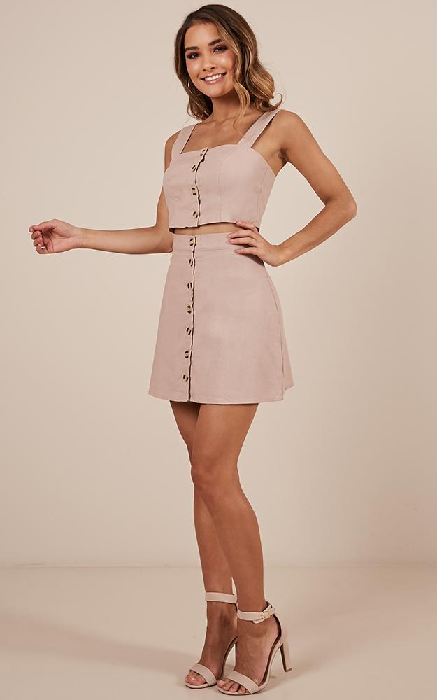 Cut Me Loose Two Piece set in blush Linen Look - 20 (XXXXL), Blush, hi-res image number null