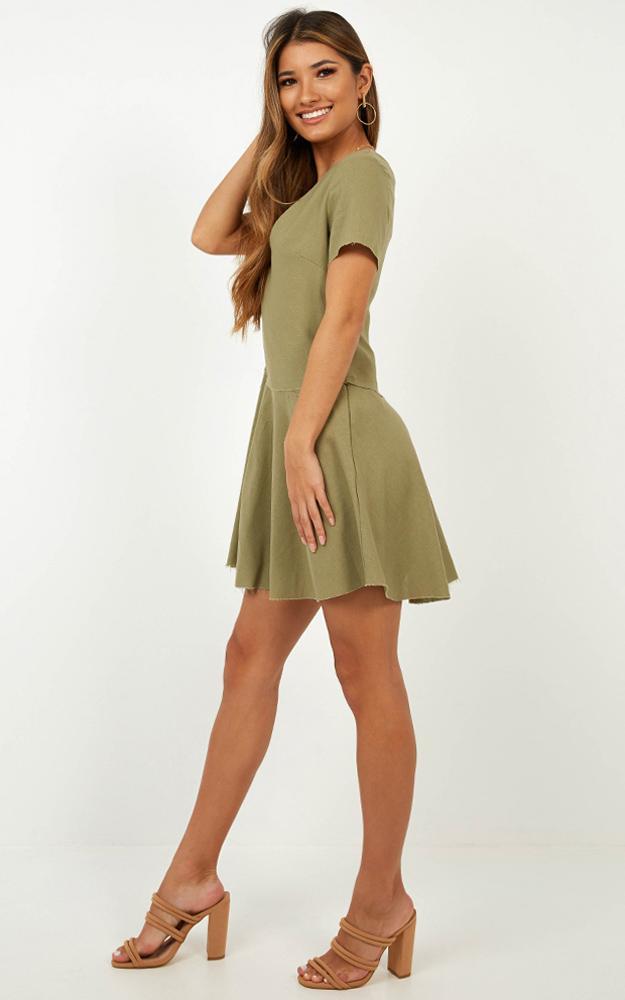 Get in Order Dress in khaki linen look - 14 (XL), Khaki, hi-res image number null