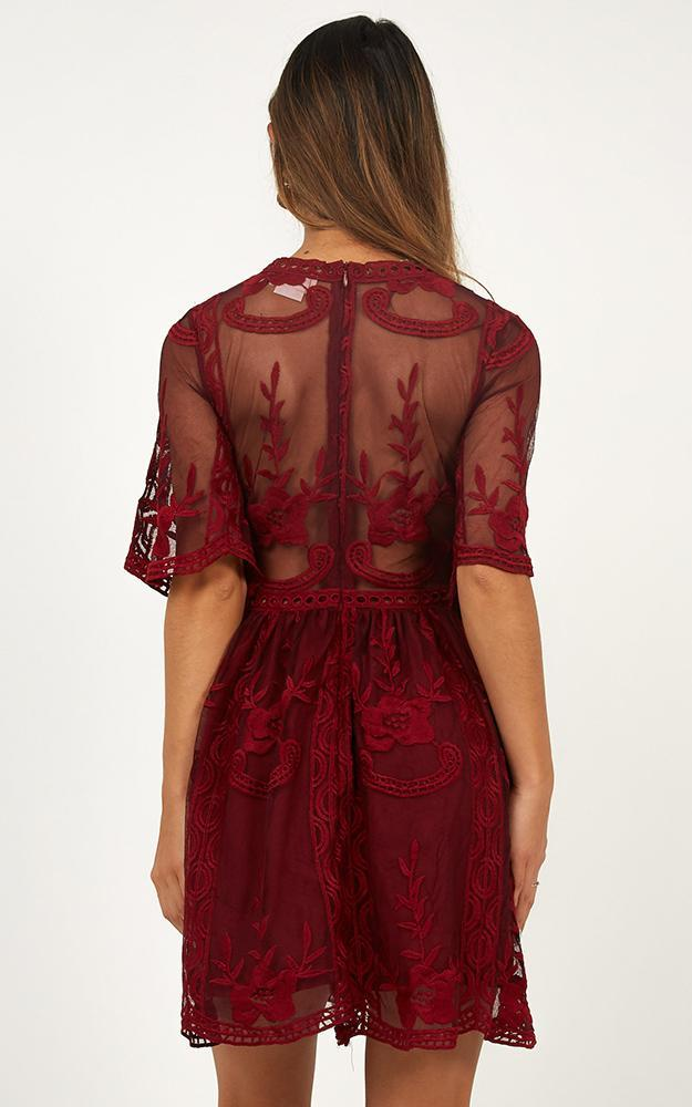 Rolling the Deep Dress in wine lace - 20 (XXXXL), Wine, hi-res image number null