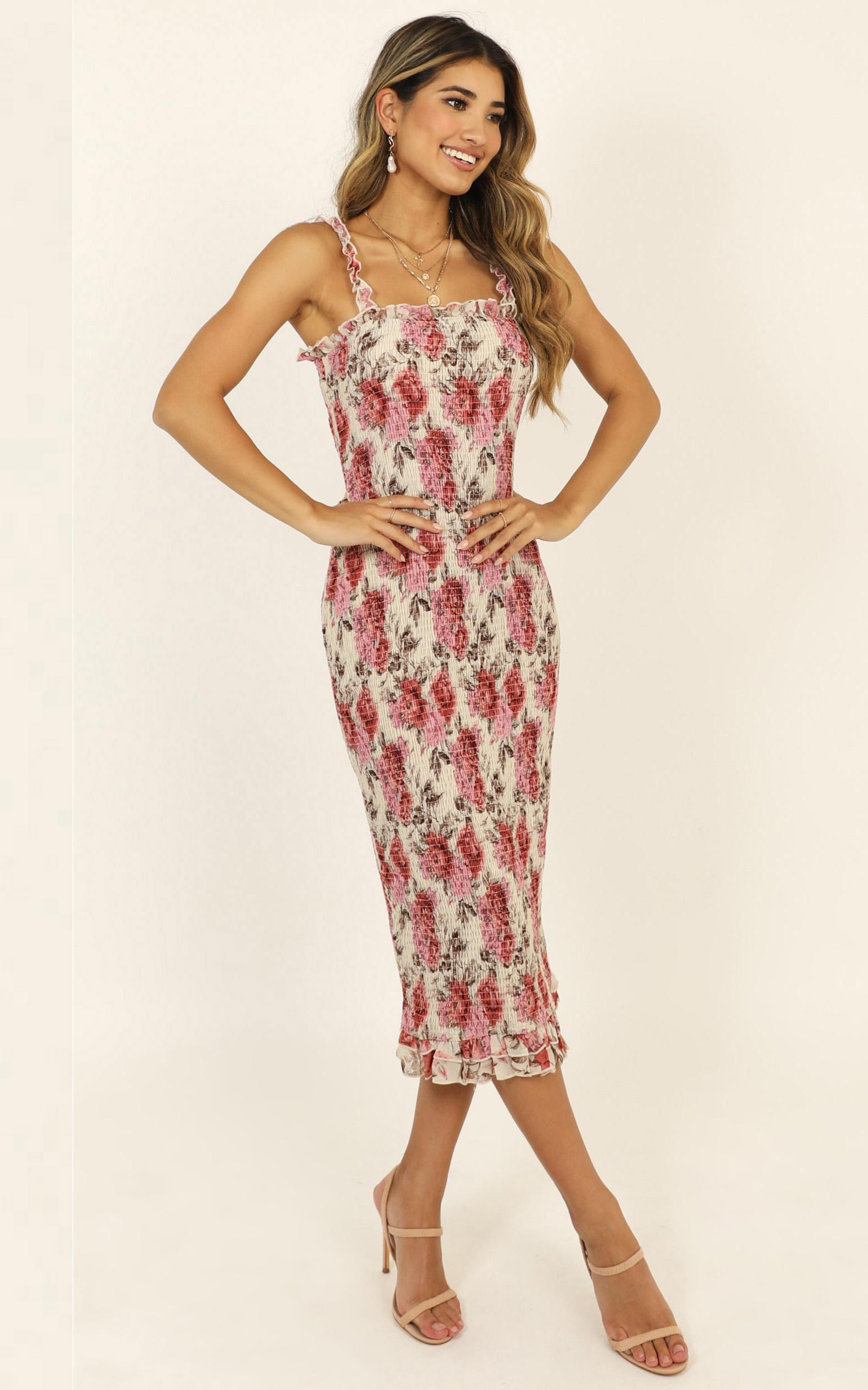Grand Entrance Dress in rose floral - 14 (XL), Pink, hi-res image number null