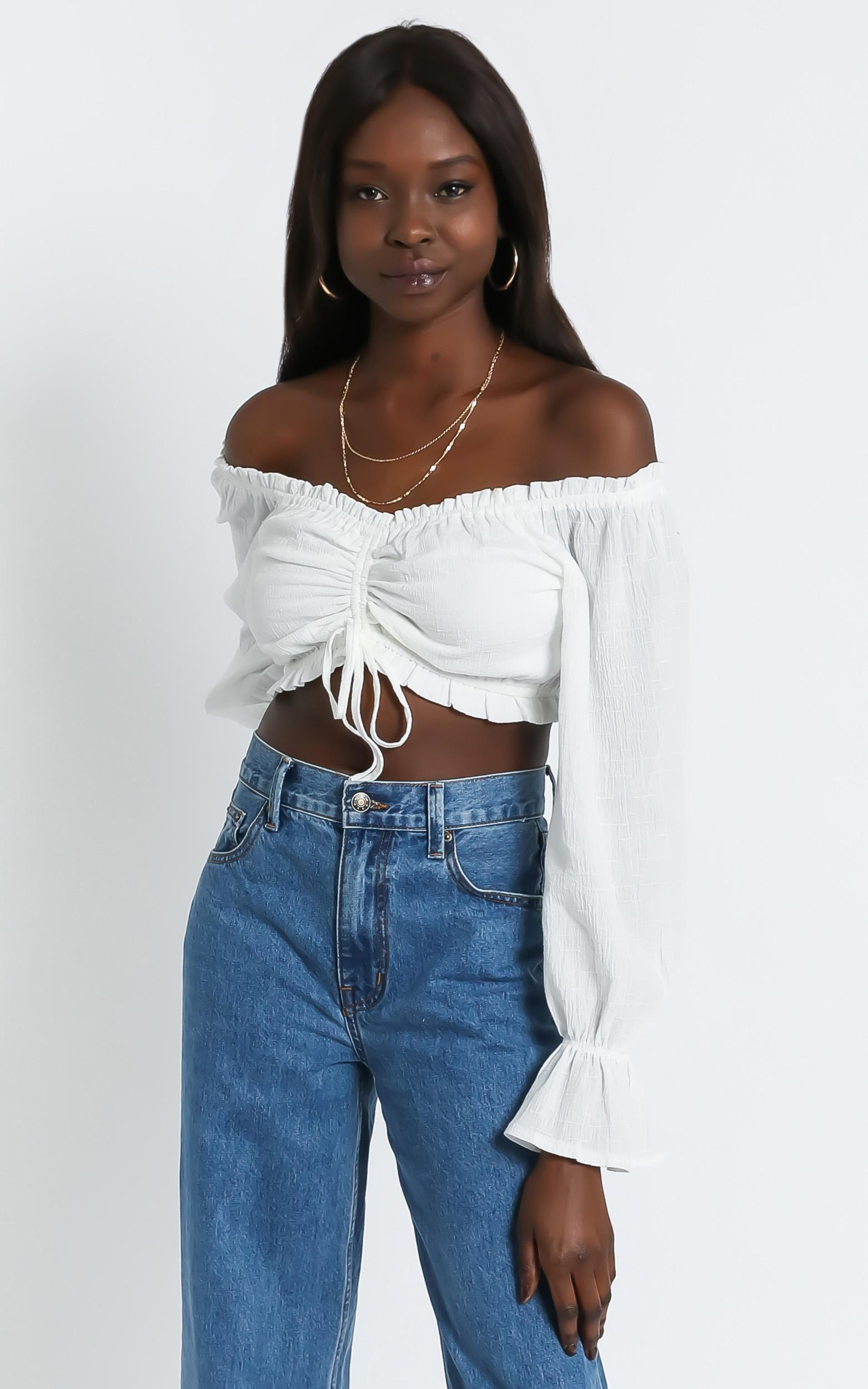 Marlo Top in White - 6 (XS), White, hi-res image number null