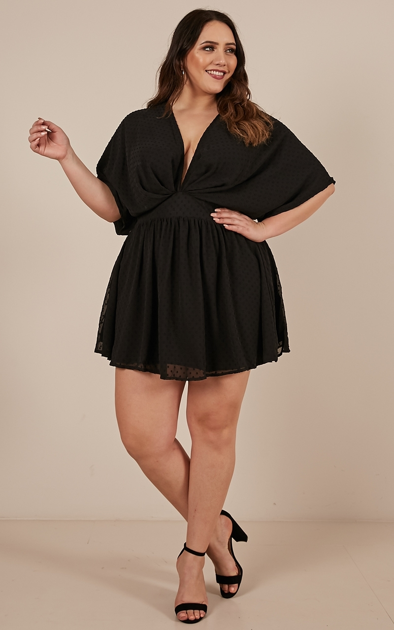 Signed and Sealed dress in black - 20 (XXXXL), Black, hi-res image number null