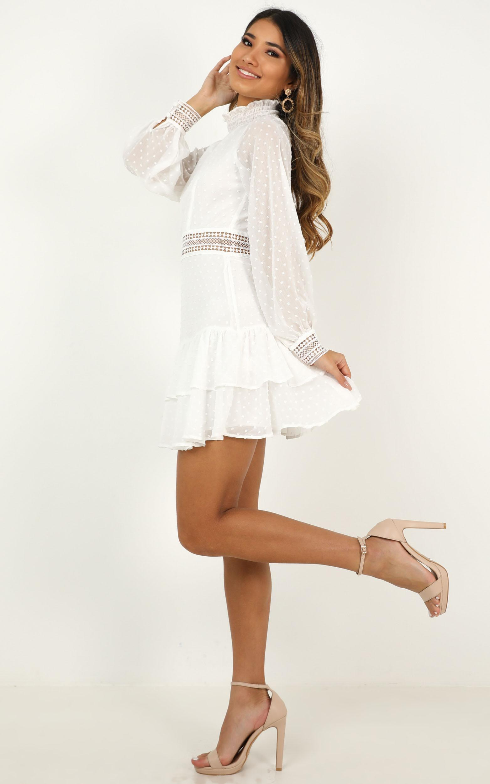 Are You Gonna Kiss Me Dress in white - 20 (XXXXL), White, hi-res image number null