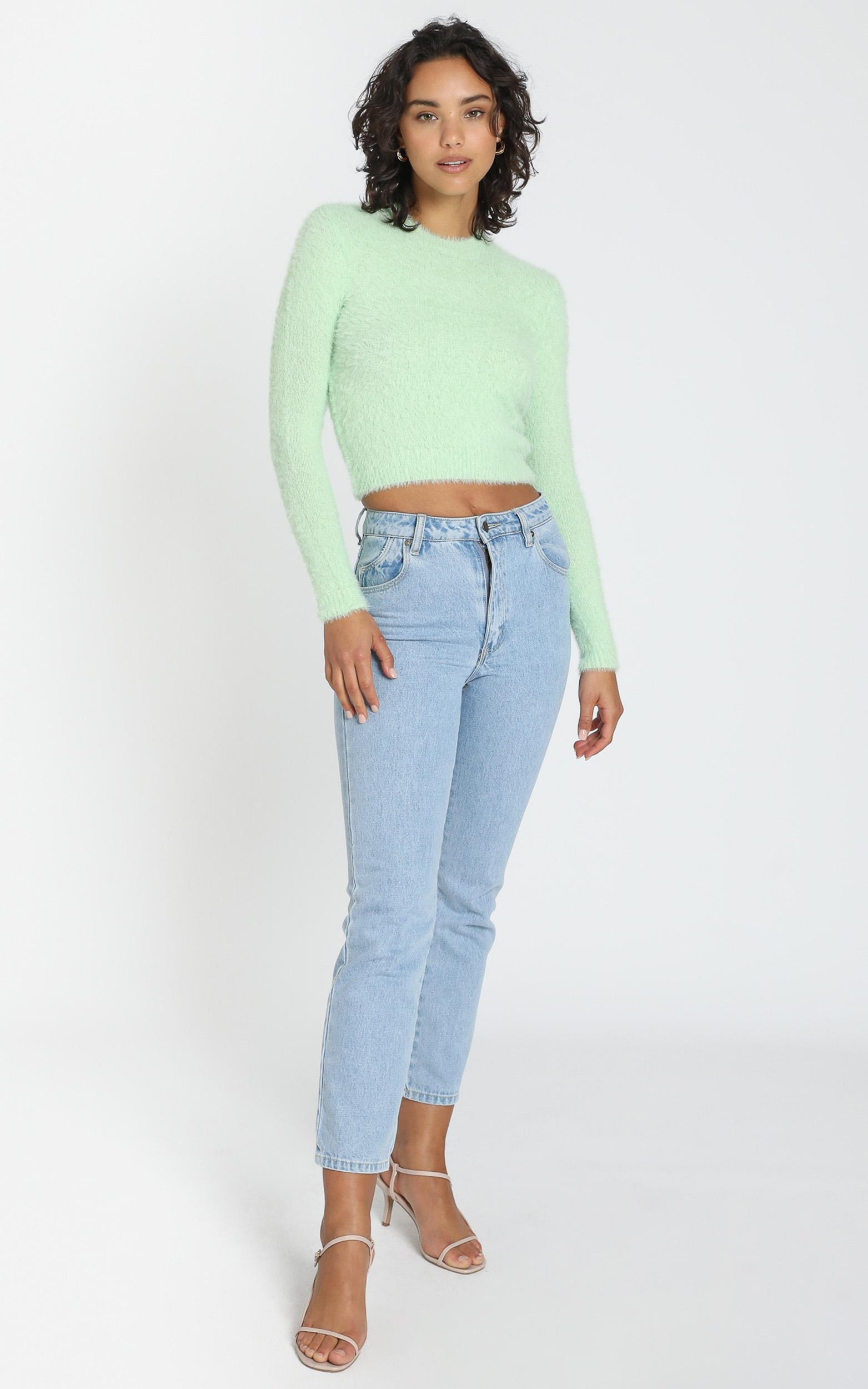 Switching Sides Knit Top in mint - 4 (XXS), Green, hi-res image number null