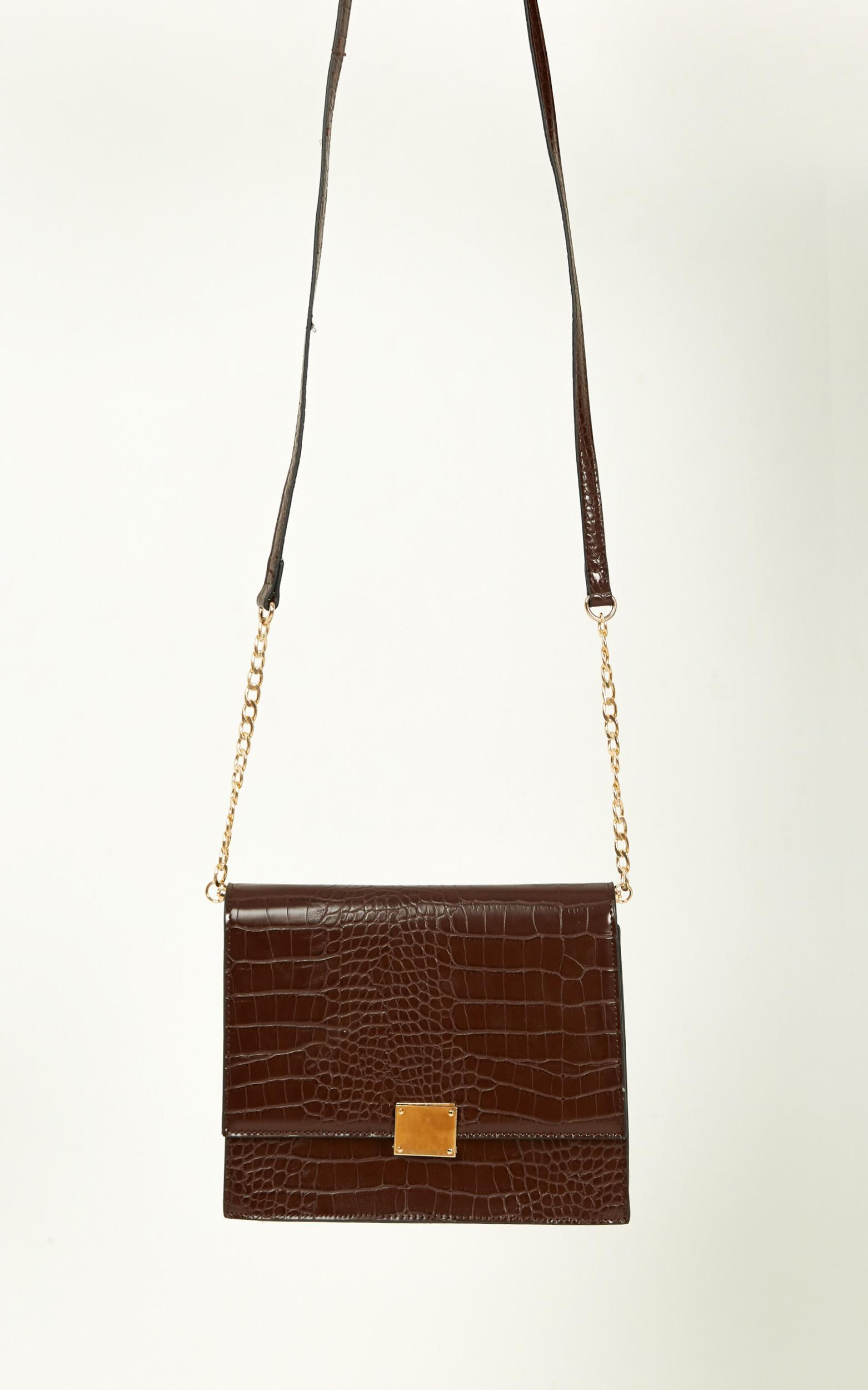 Fresh Eyes Bag In Chocolate And Gold, , hi-res image number null